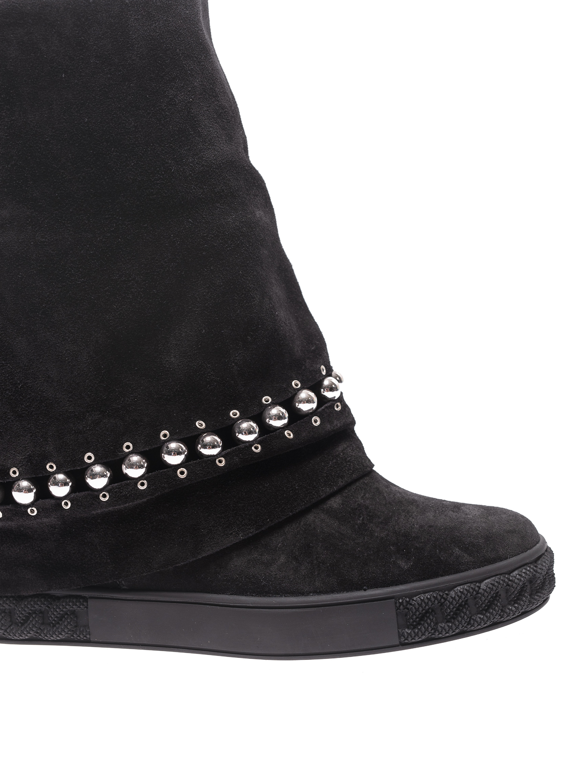 iKRIX Casadei  ankle boots - Black suede embellished sneaker sole booties 3dffdd444b3