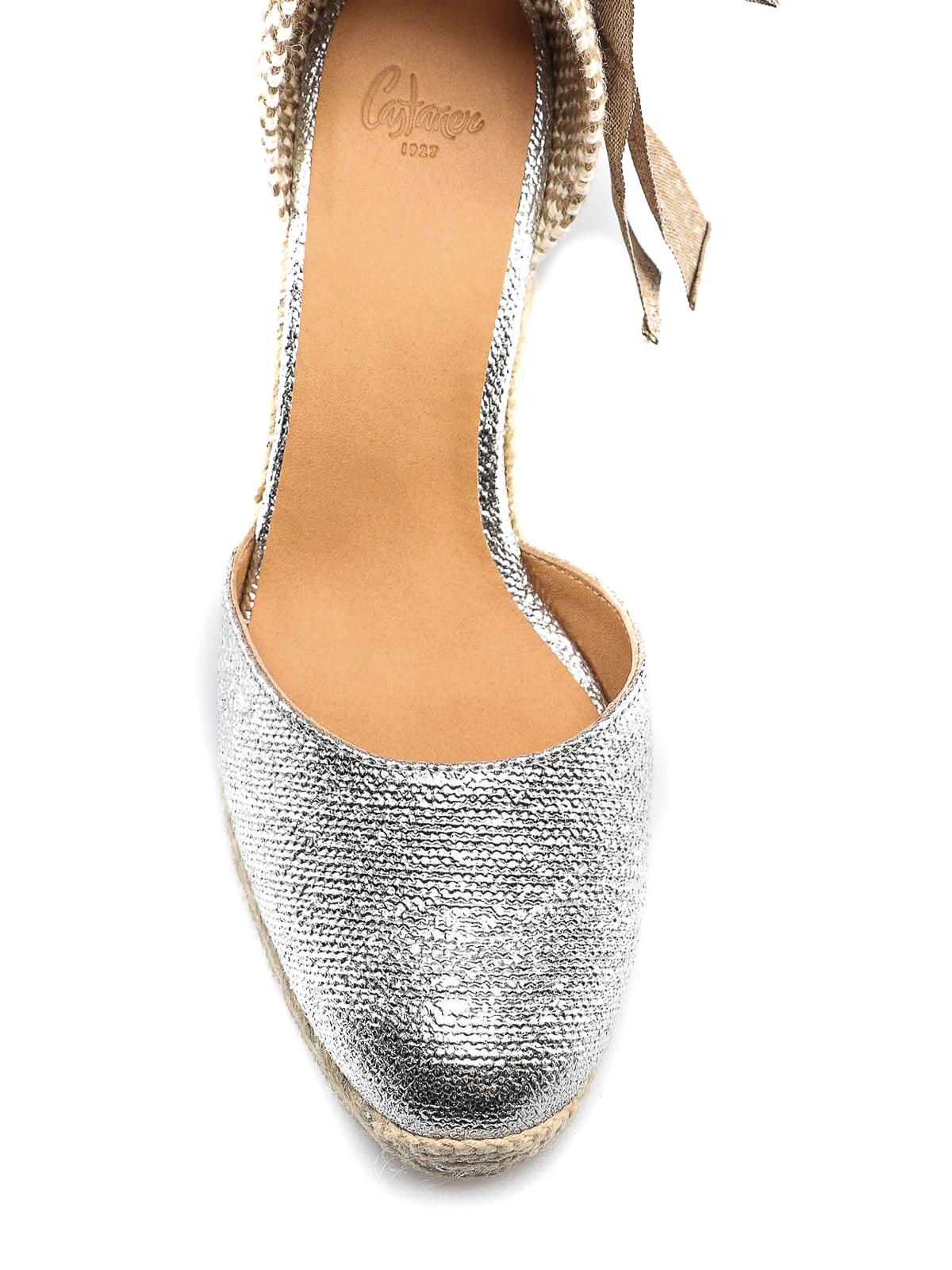 e3007fe6de0 Castaner - Carina metallic fabric wedge espadrilles - espadrilles ...