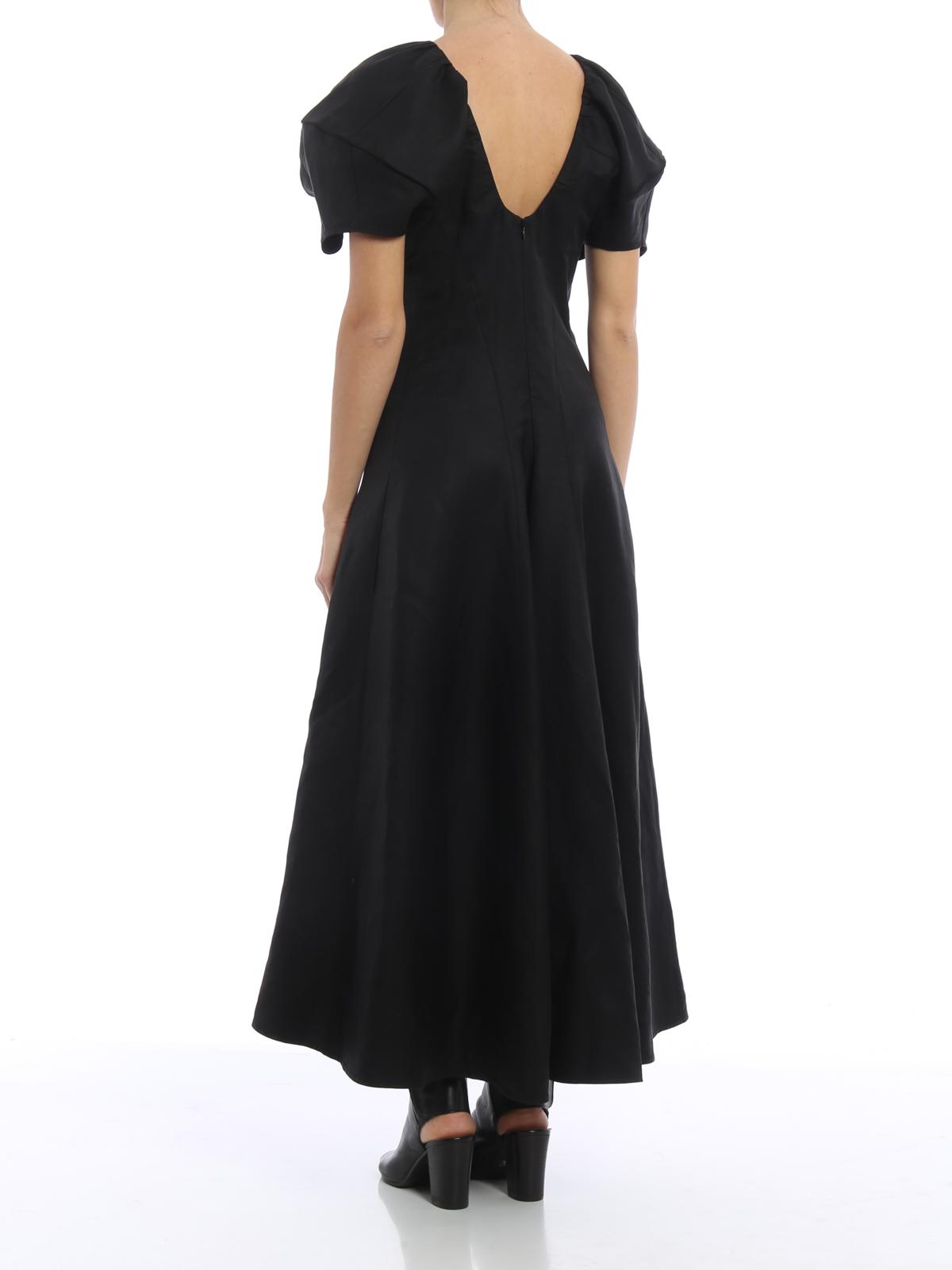los angeles 2b463 6fdb5 Céline - Maxi abito svasato in misto lino - abiti lunghi ...