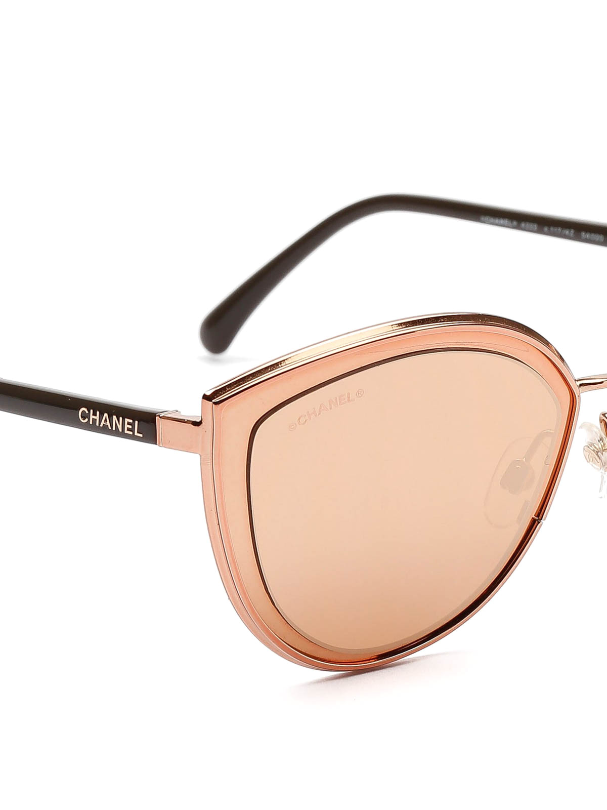 eb55b714338 Chanel - Pink gold cat eye sunglasses - sunglasses - 4222 C1174Z