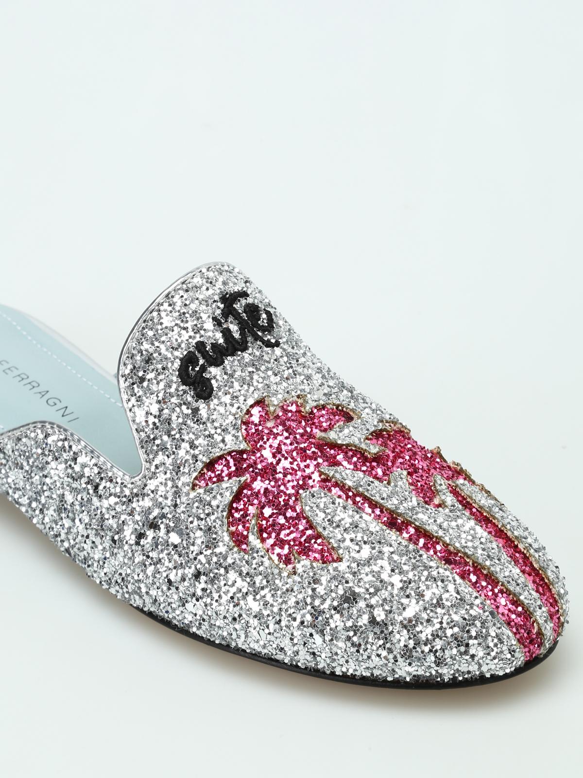 d68b08e56776 Chiara Ferragni - Suite Life silver glitter mules - mules shoes - CF1826