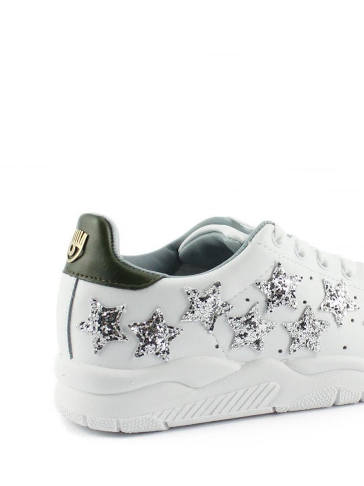 Sale Free Shipping Chiara Ferragni Glitter Star Sneakers Sale Countdown Package Clearance Release Dates 3yhec2W