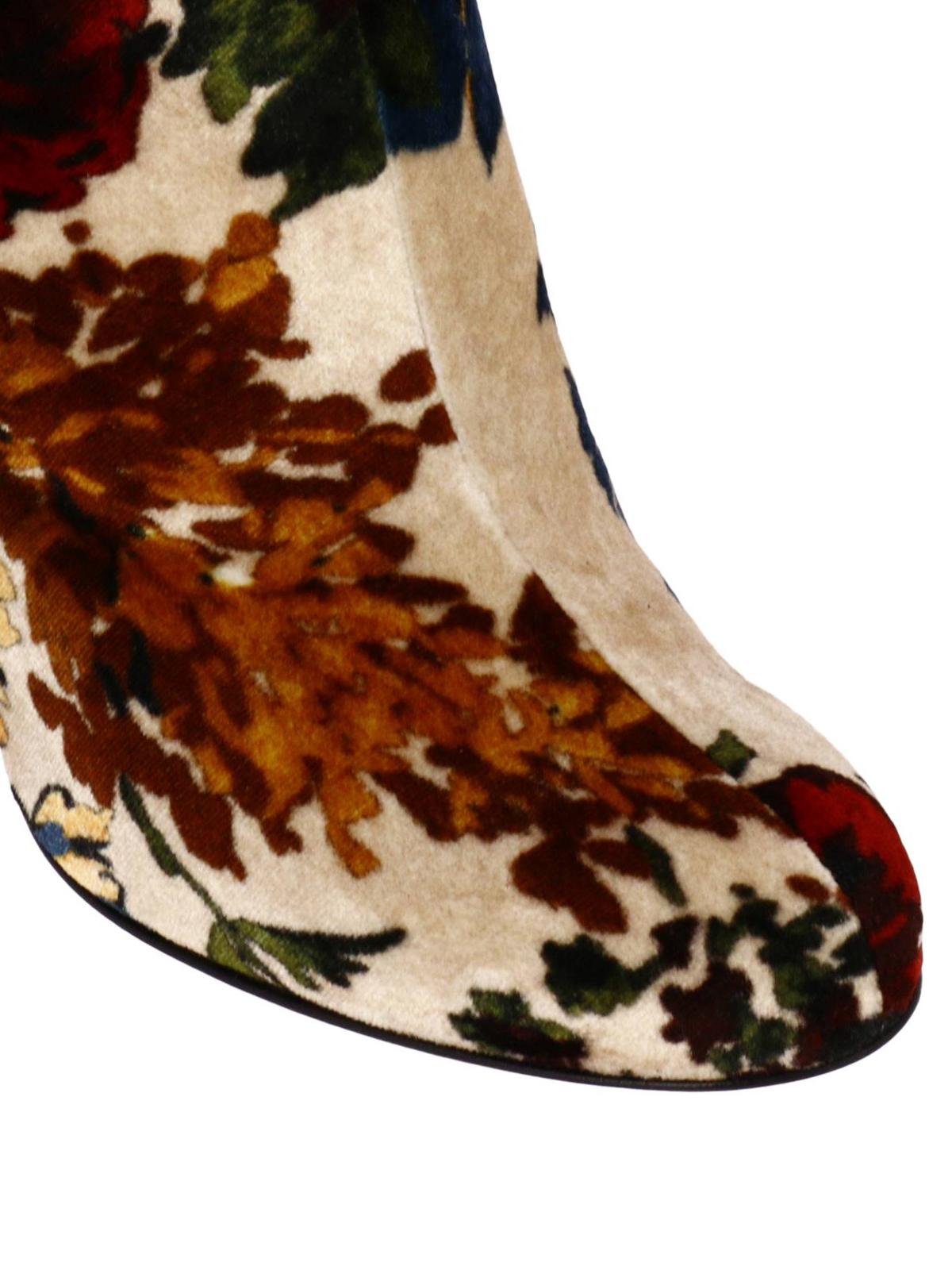 separation shoes 74de8 6a990 Christian Louboutin - Moulamax floral velvet booties - ankle ...