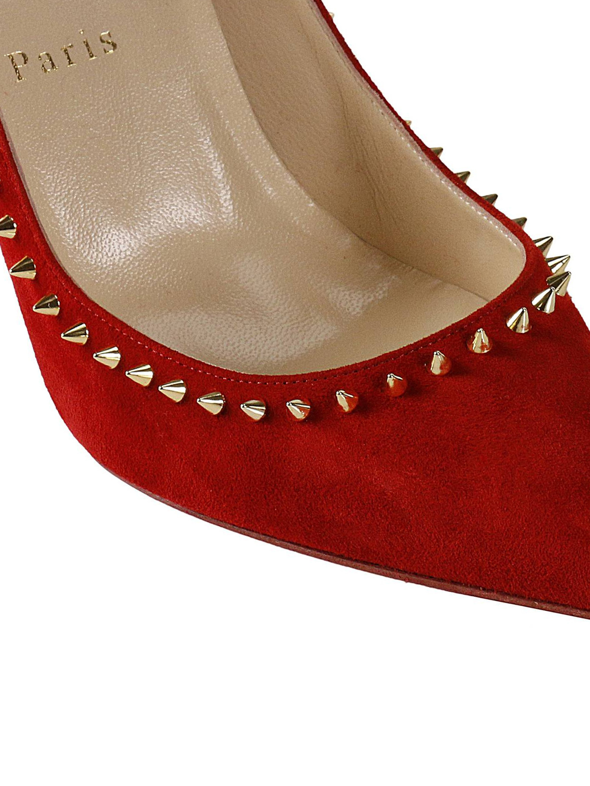 843639c5380f iKRIX CHRISTIAN LOUBOUTIN  court shoes - Anjalina red suede pumps
