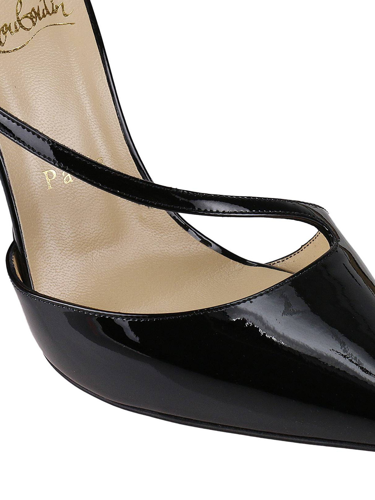 on sale 5ca1c 95f75 Christian Louboutin - Fliketta patent d'Orsay court shoes ...