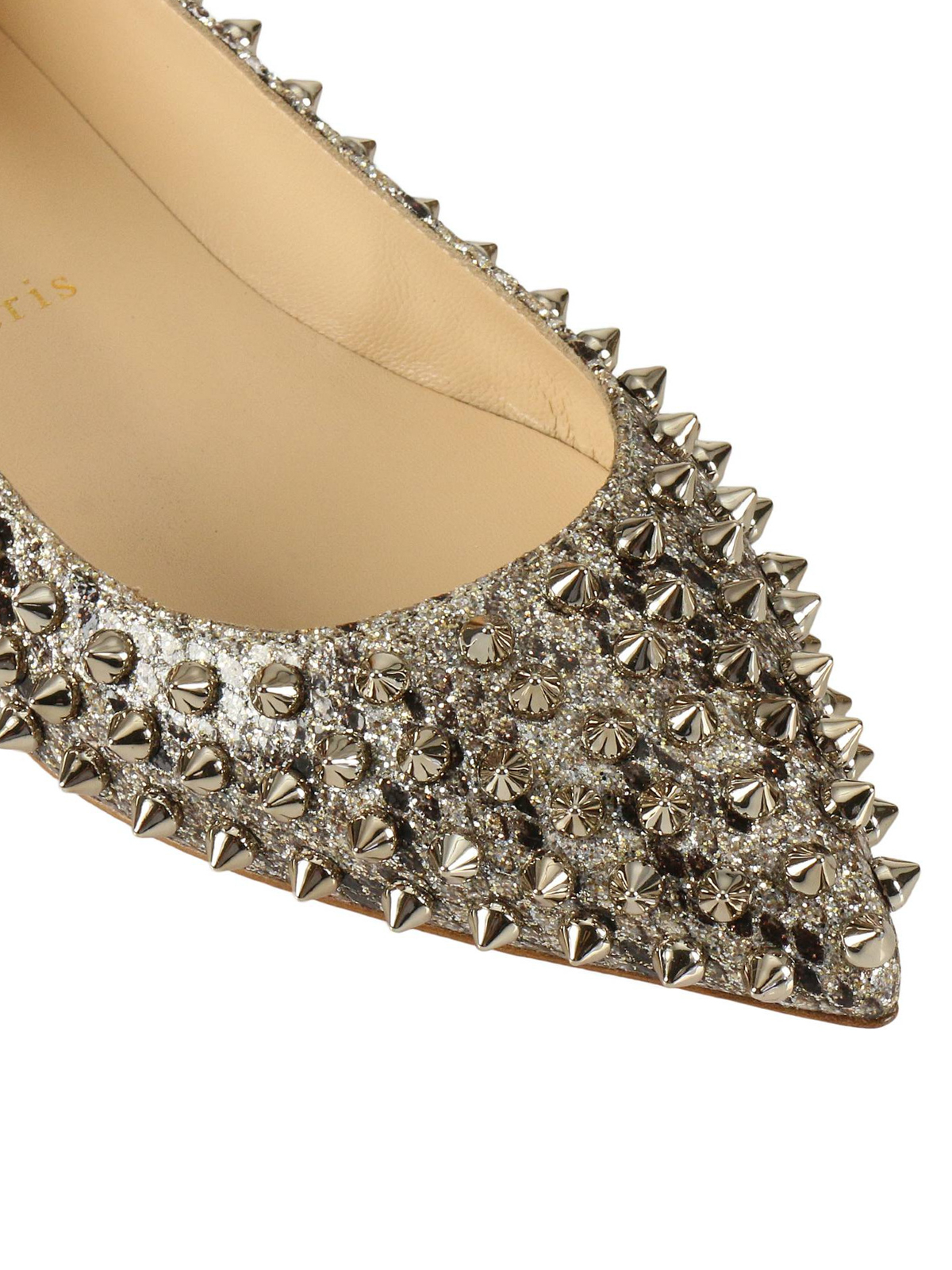 buy online 8f0e4 053a3 Christian Louboutin - Follies Spikes ayers leather flats ...