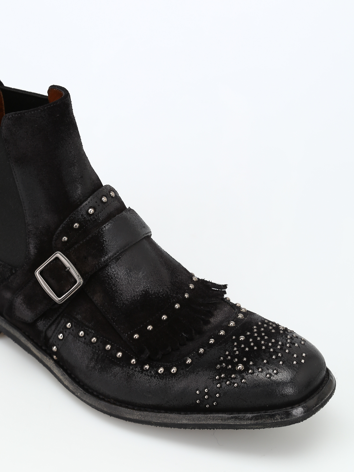 Shanghai 6 studded suede booties