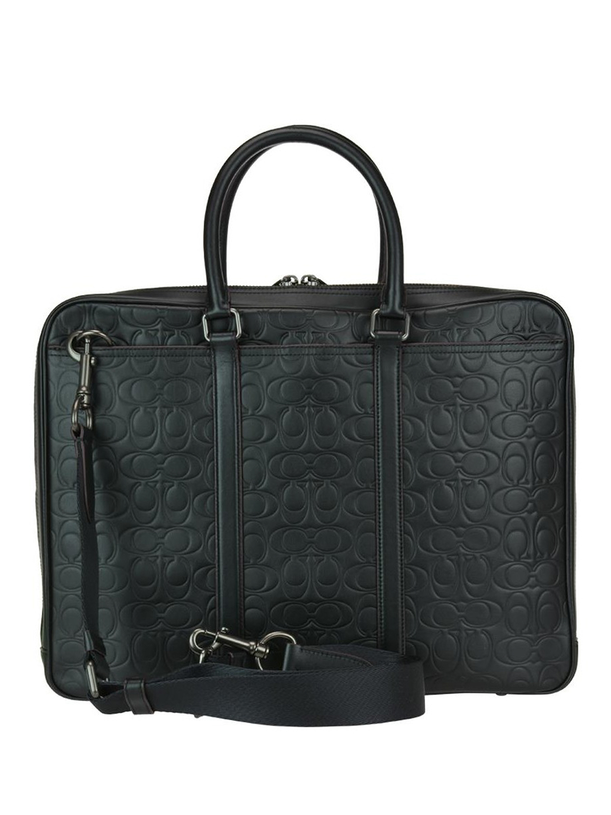 c3f59511a98b iKRIX COACH  laptop bags   briefcases - Logo embossed leather briefcase