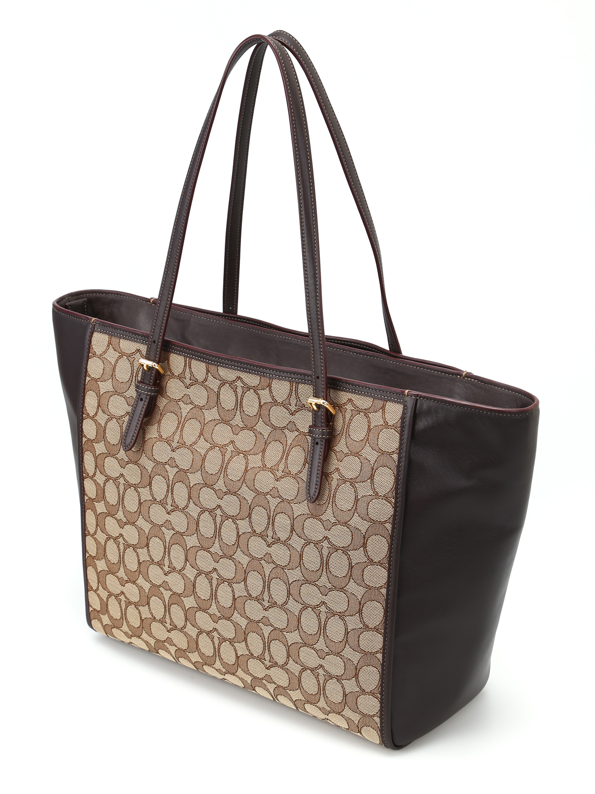 8343f58ed1f0 ... spain ikrix coach totes bags cc fabric panels leather tote a4c3b 20d67  where to buy nwt coach f23284 tote bag smooth park leather carryall british  tan ...