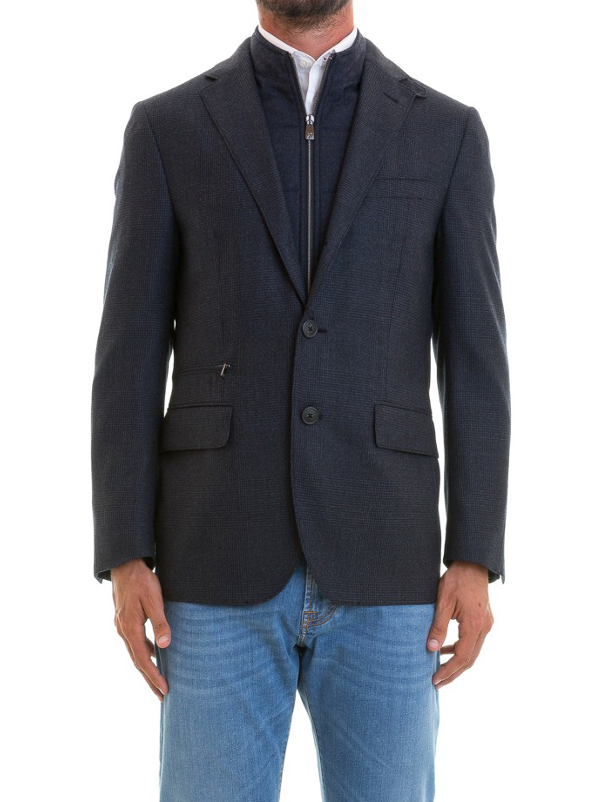 iKRIX CORNELIANI  giacche blazer - Blazer in lana blu imbottito 0d0d90fa5c7