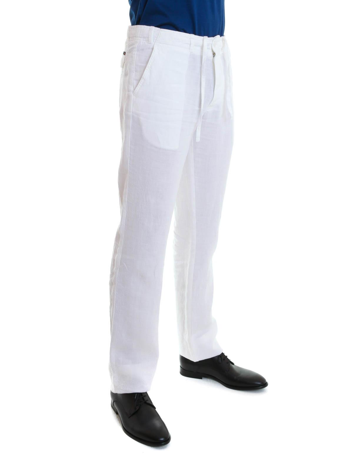 Pantalon Pour Blanc Casual Homme Corneliani Pantalons wqx4twd