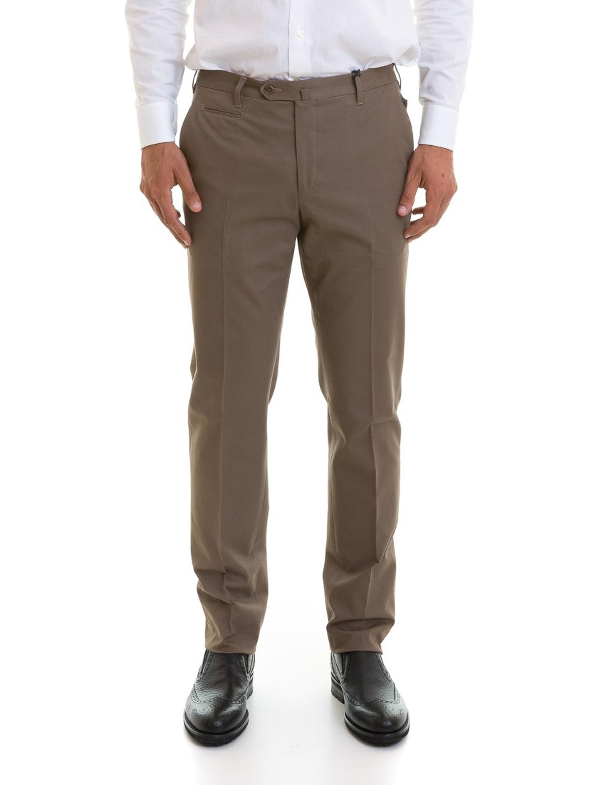 5d028858478aa0 iKRIX CORNELIANI: pantaloni casual - Pantaloni chino in cotone elasticizzato