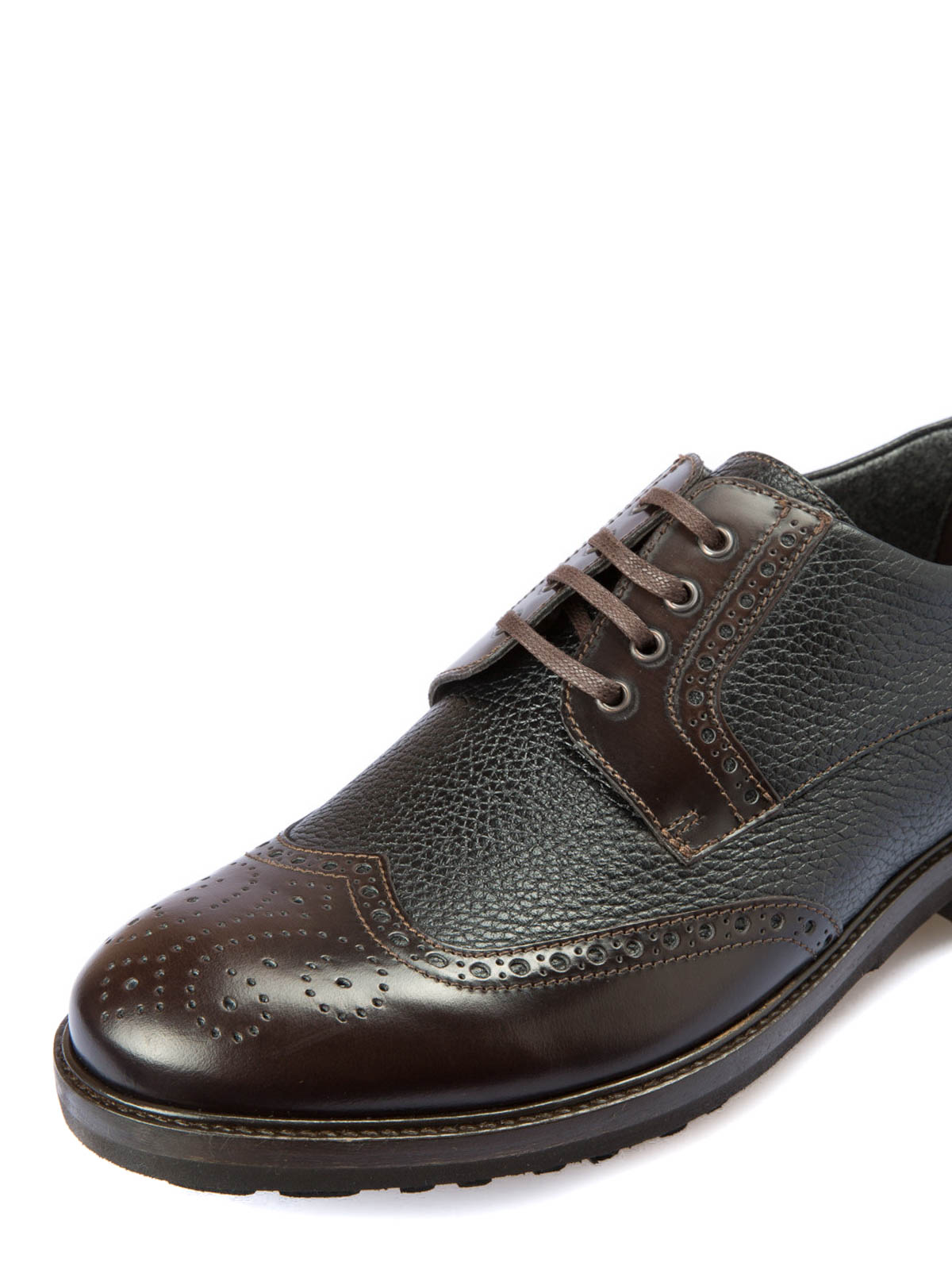 Corneliani Derby brogue in pelle martellata scarpe
