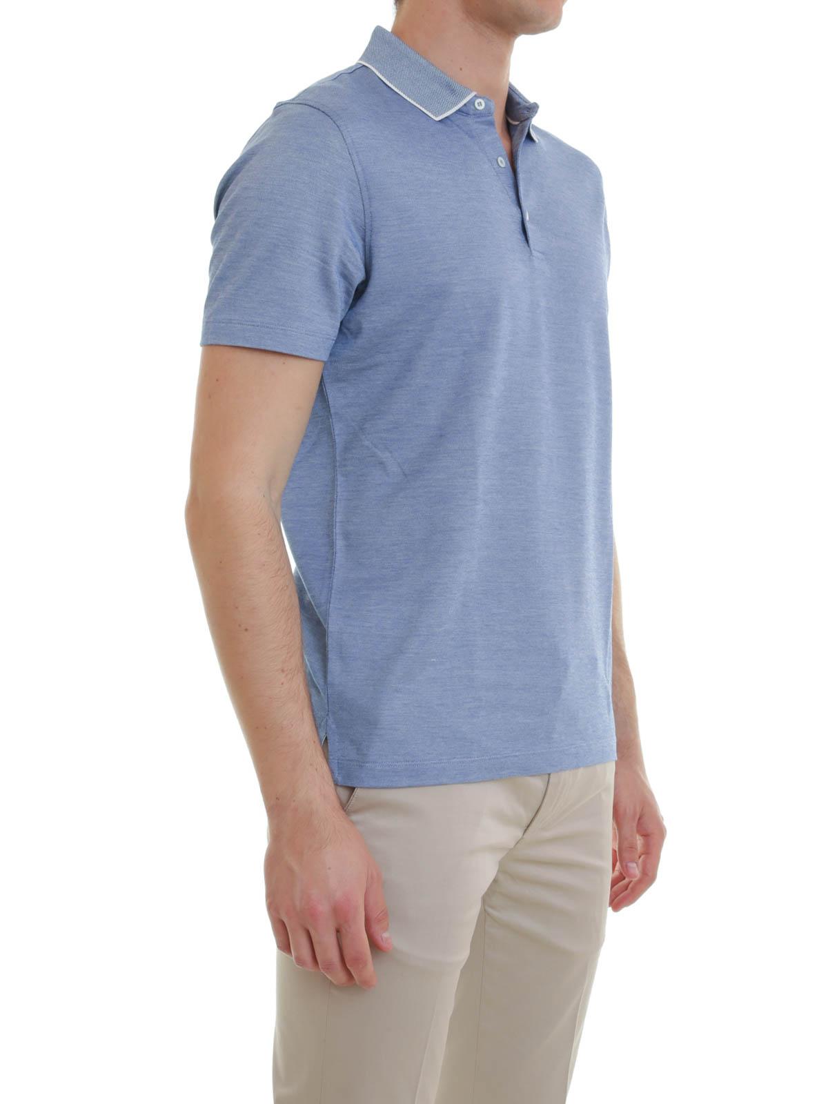 0226c1f22 Silk Polo Shirts