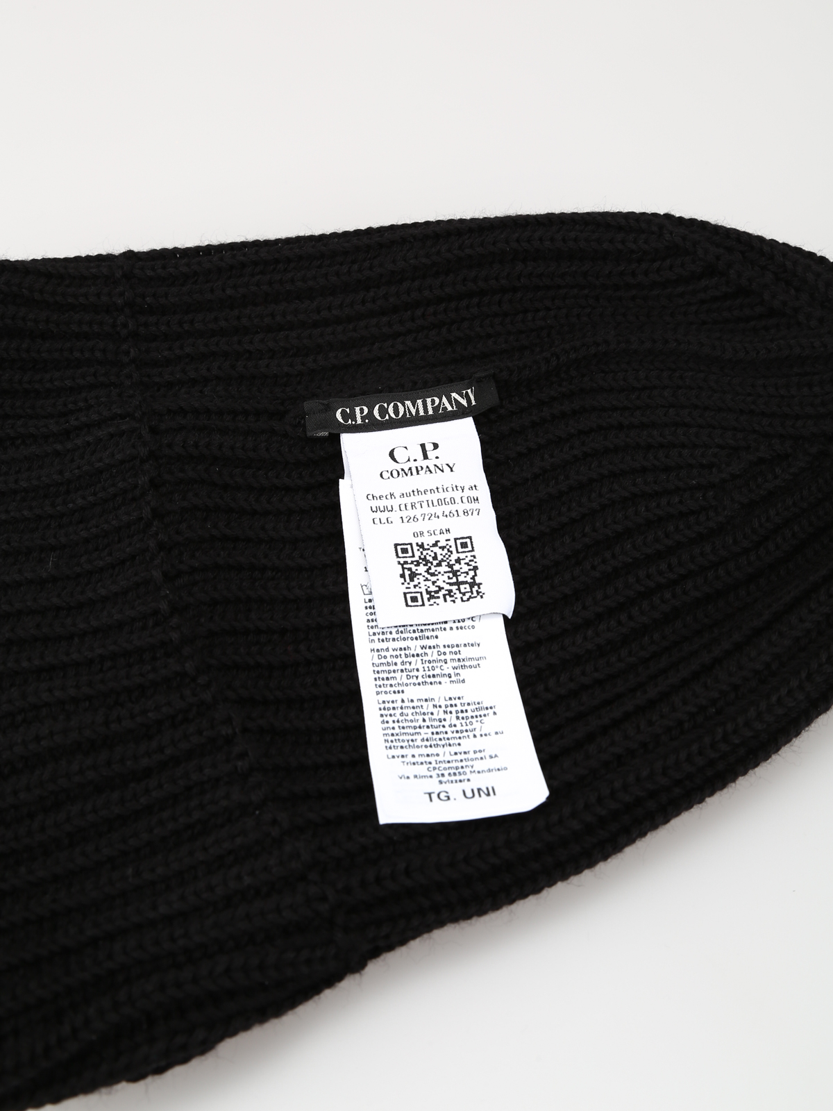 fbf33834f CP Company - Extra fine merino wool knit goggles beanie - beanies ...