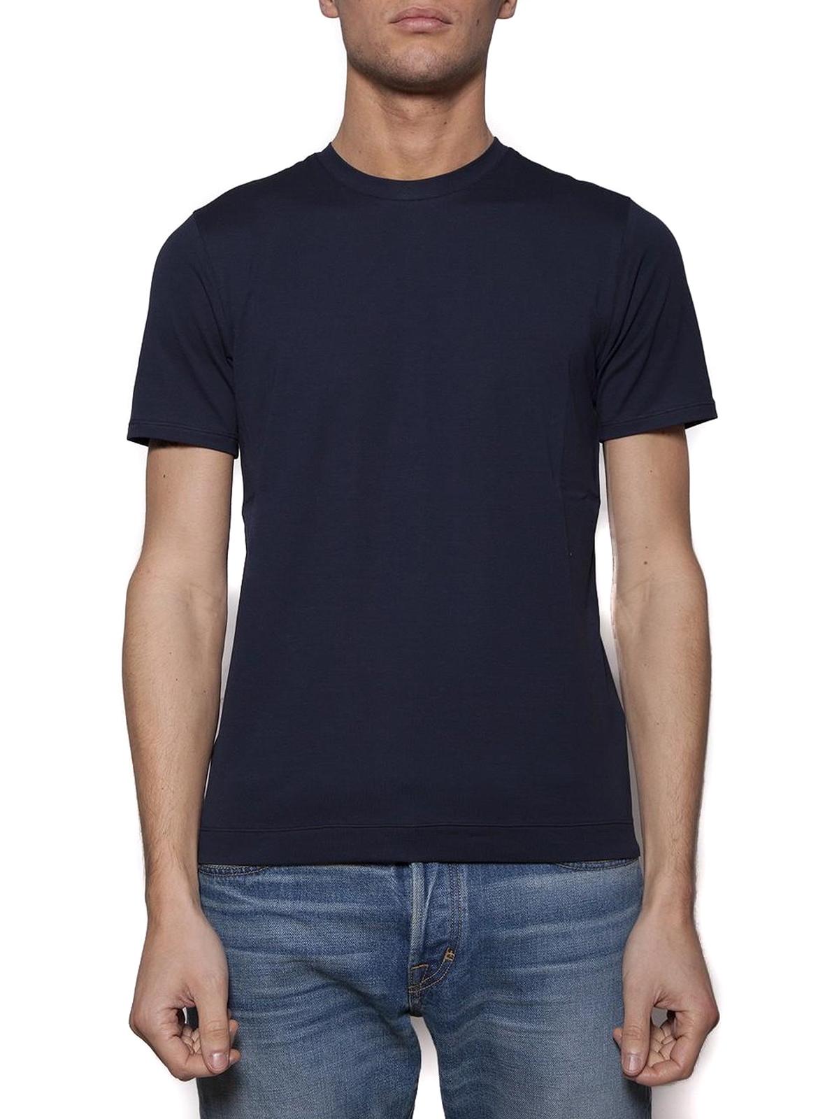 Dark blue stretch jersey t shirt by cruciani t shirts for T shirt dark blue