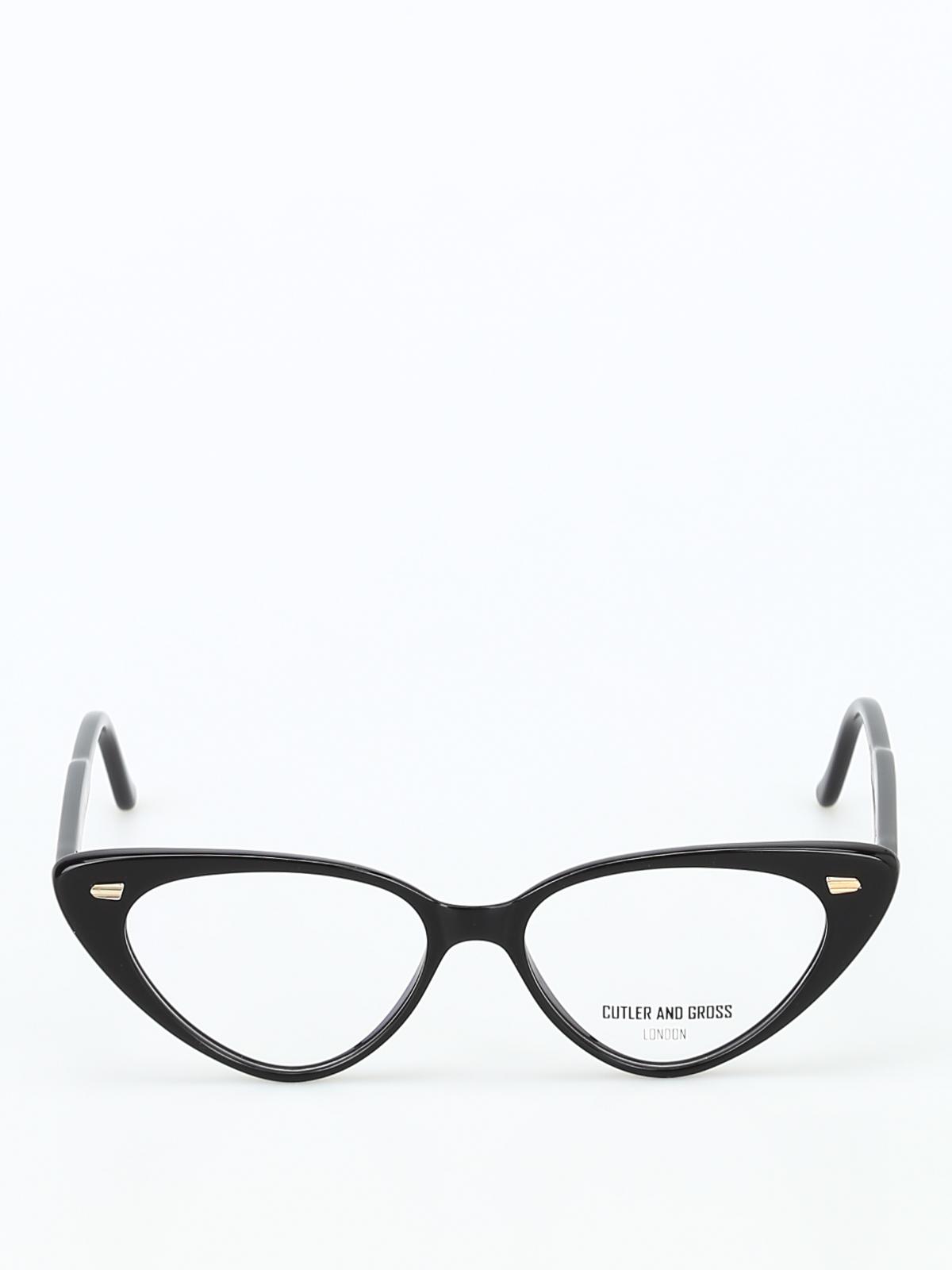 436f74d2d87 iKRIX CUTLER AND GROSS  Glasses - Super trendy black acetate cat-eye glasses