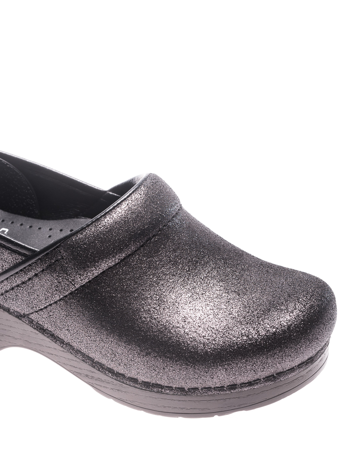 metallic suede clogs - mules shoes