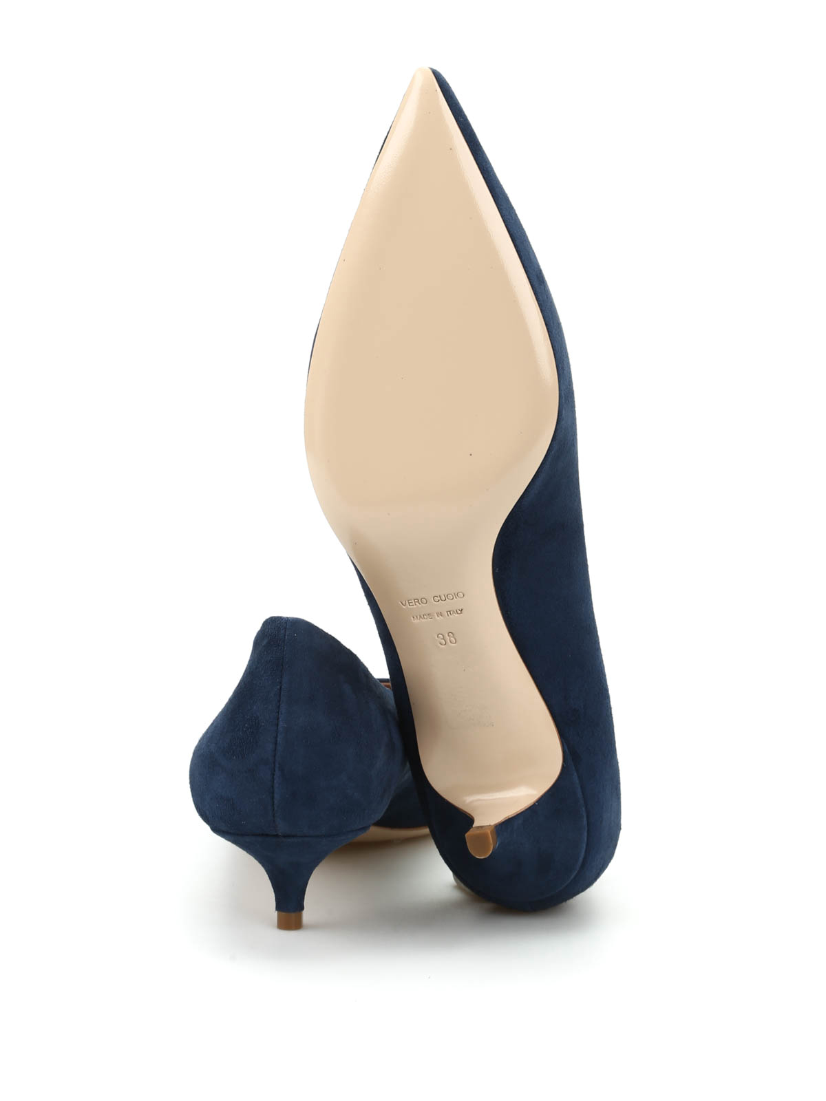 low priced f0f0f 4f0b7 Dei Mille - Suede pump - court shoes - 30192CAMOSCIODENIM ...