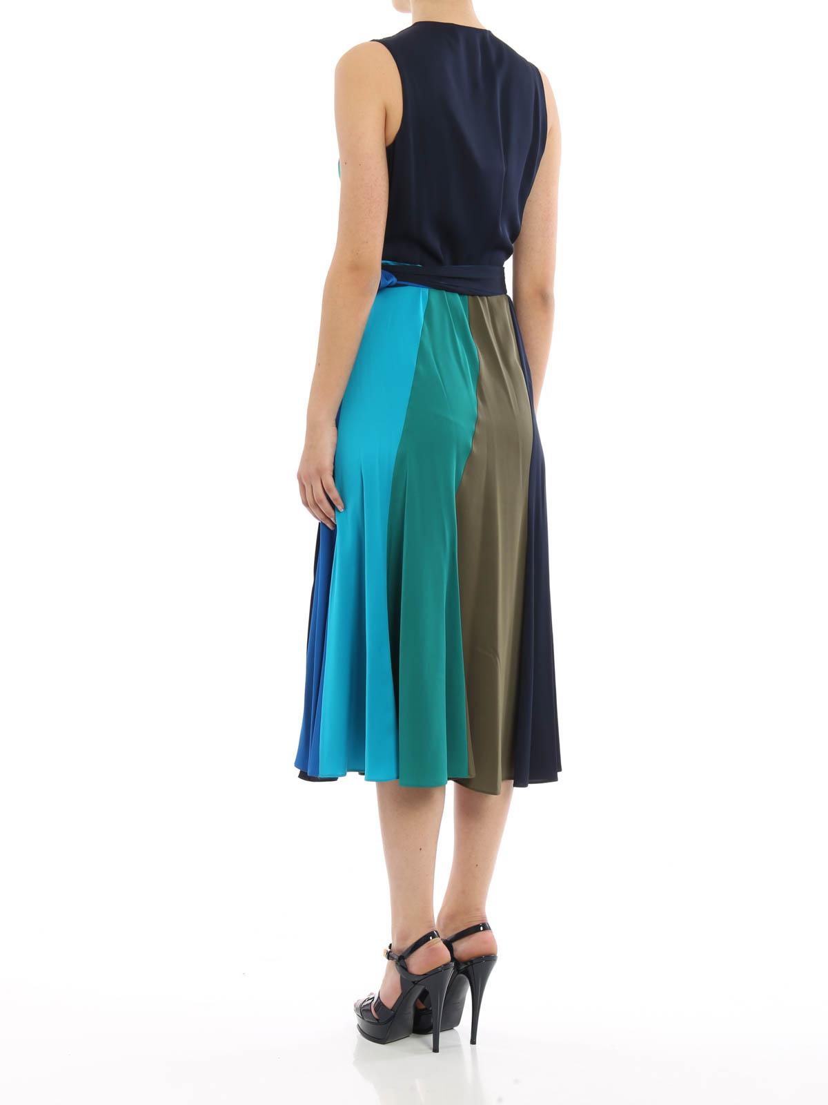 Silk wrap cocktail dress