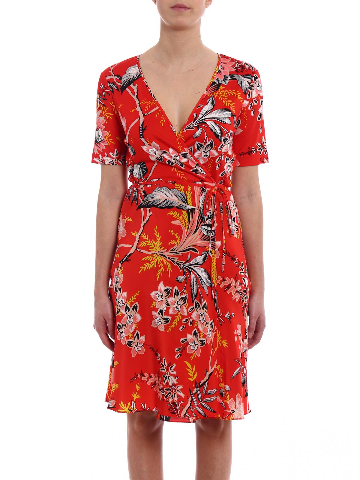 Diane von Furstenberg Floral printed silk wrap dress