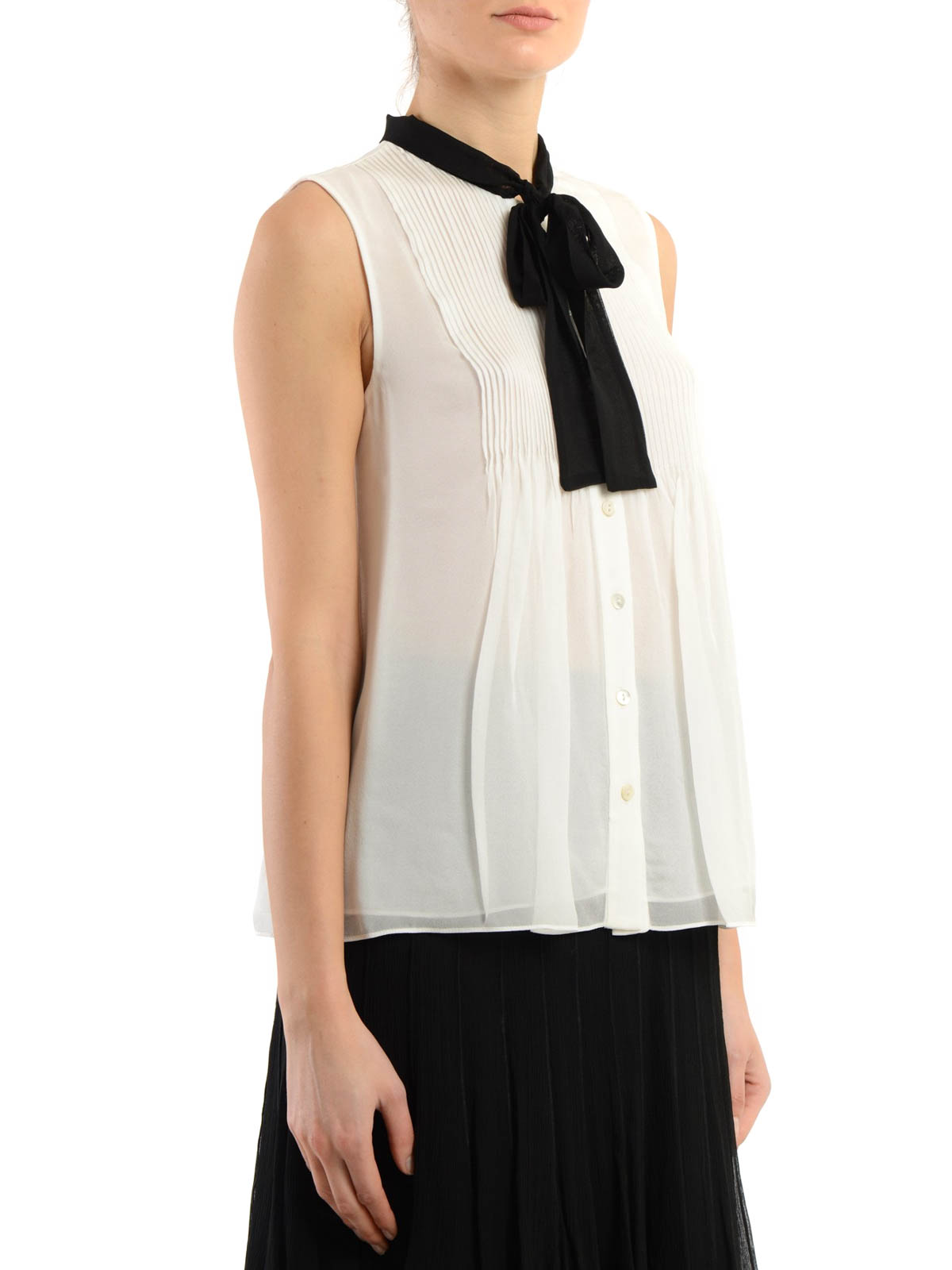 Aidan Sleeveless Silk Shirt By Diane Von Furstenberg