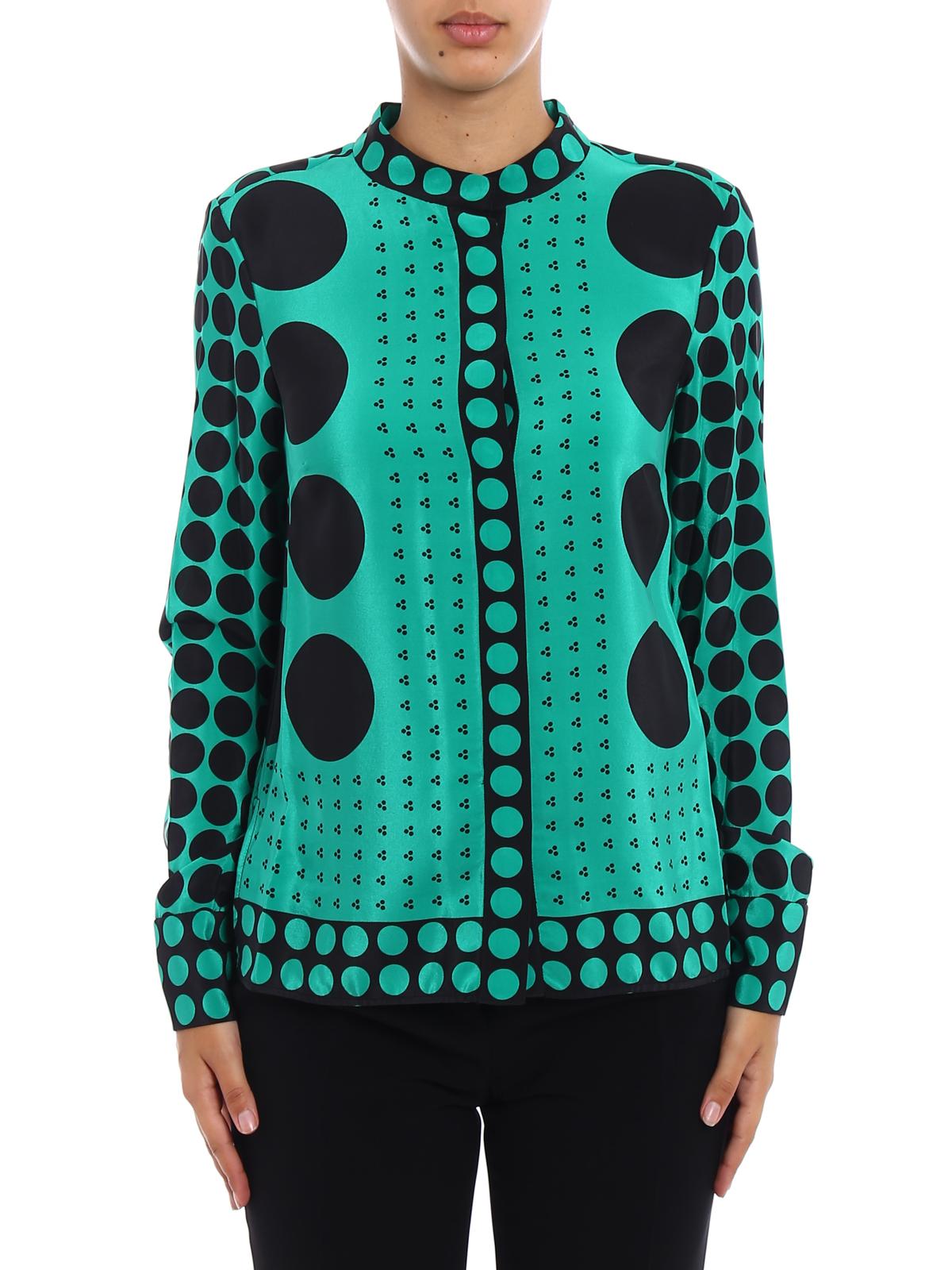 7789fd541a332 iKRIX Diane von Furstenberg: shirts - Brunel Evergreen print silk shirt