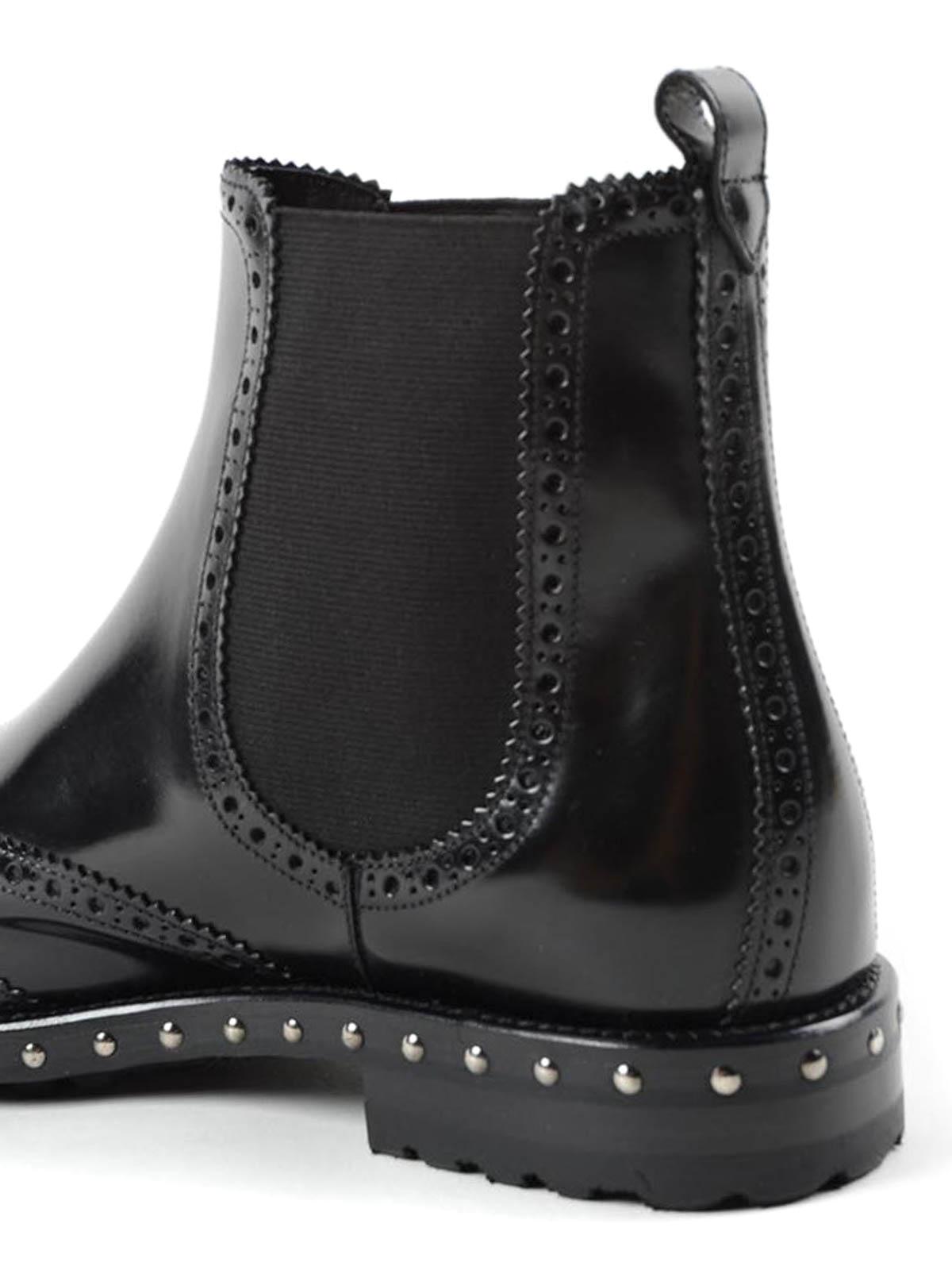 Stud detail brogue chelsea boots
