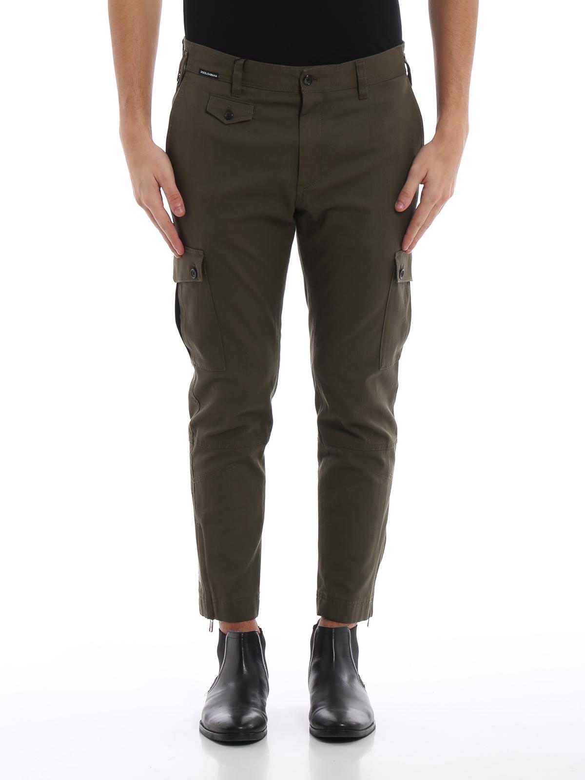 92fb258854 iKRIX DOLCE   GABBANA  Pantalones casual - Pantalón Casual - Verde Oscuro
