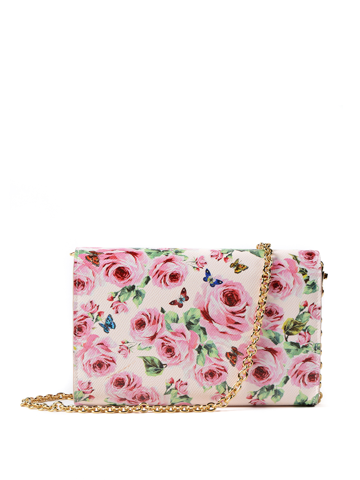 floral print wallet clutch bag - Pink & Purple Dolce & Gabbana pCHSmKg