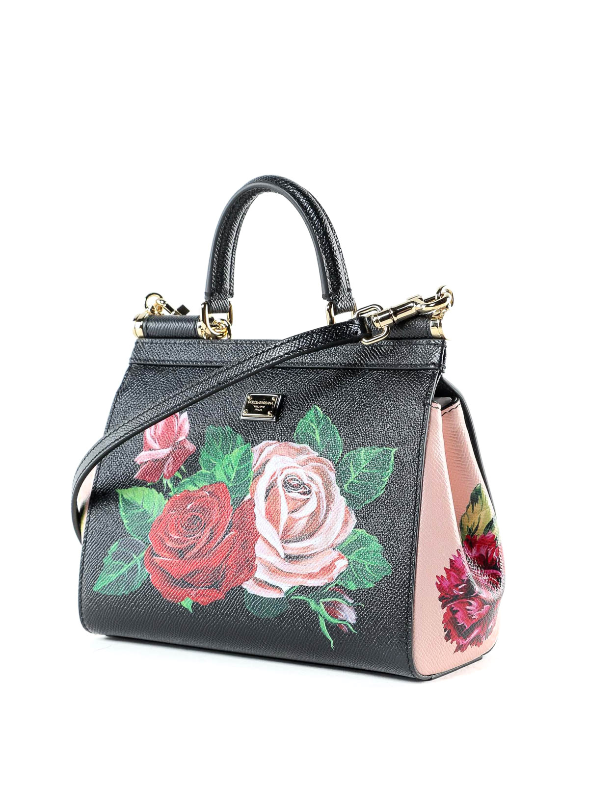 design popolare brillantezza del colore elegante e grazioso Dolce & Gabbana - Borsa Sicily piccola in pelle stampa ...