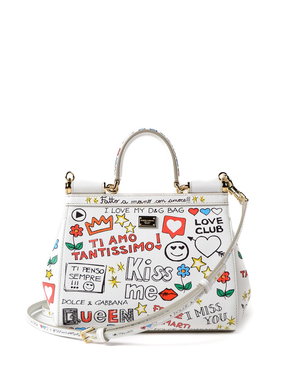 iKRIX DOLCE   GABBANA  cross body bags - Sicily mural print small handbag fe4f457e74b97