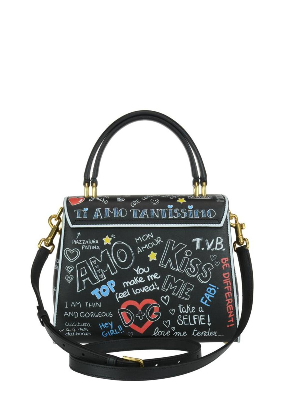 iKRIX DOLCE   GABBANA  cross body bags - Welcome mural print leather handbag 69010dc18d4b8