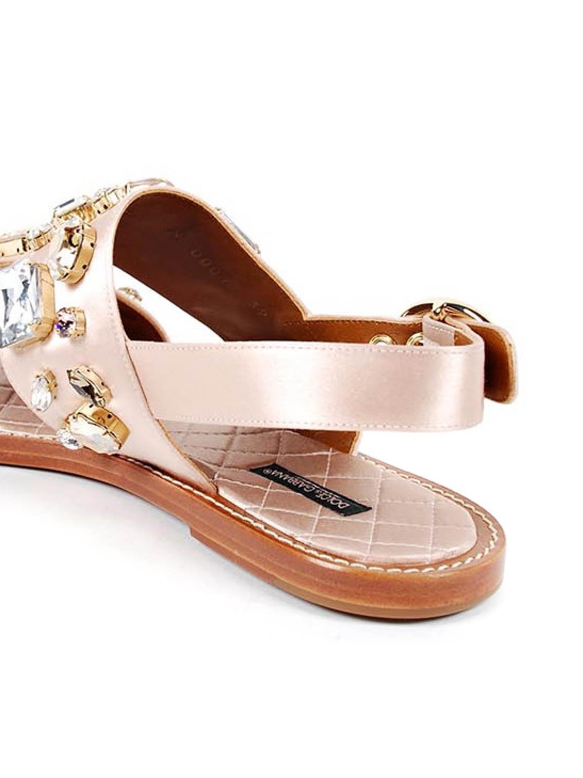 460f0906b Dolce   Gabbana - Satin sandals with gems - sandals - CQ0001 A7630 80408