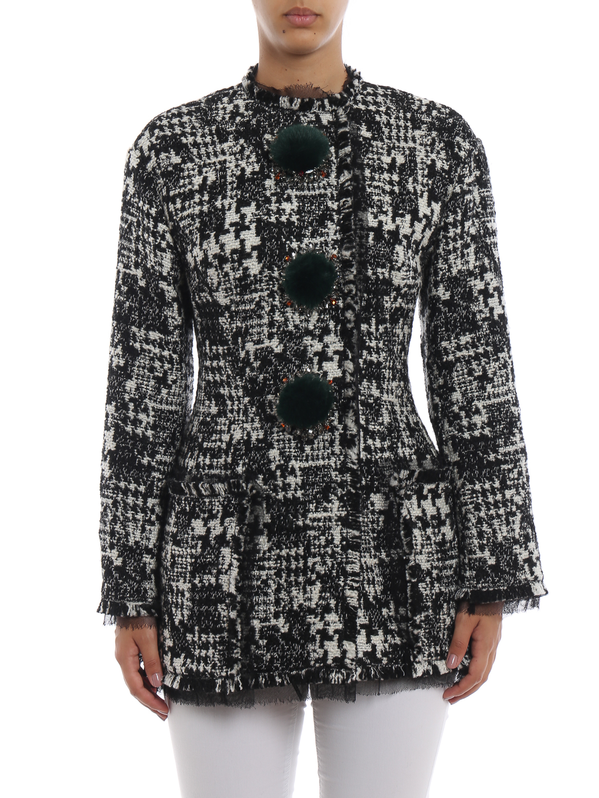 Dolce   Gabbana - Kurzer Mantel - Grau - Kurze Mäntel - F28JNZFMMFJS8030 c9dc2cfdc4