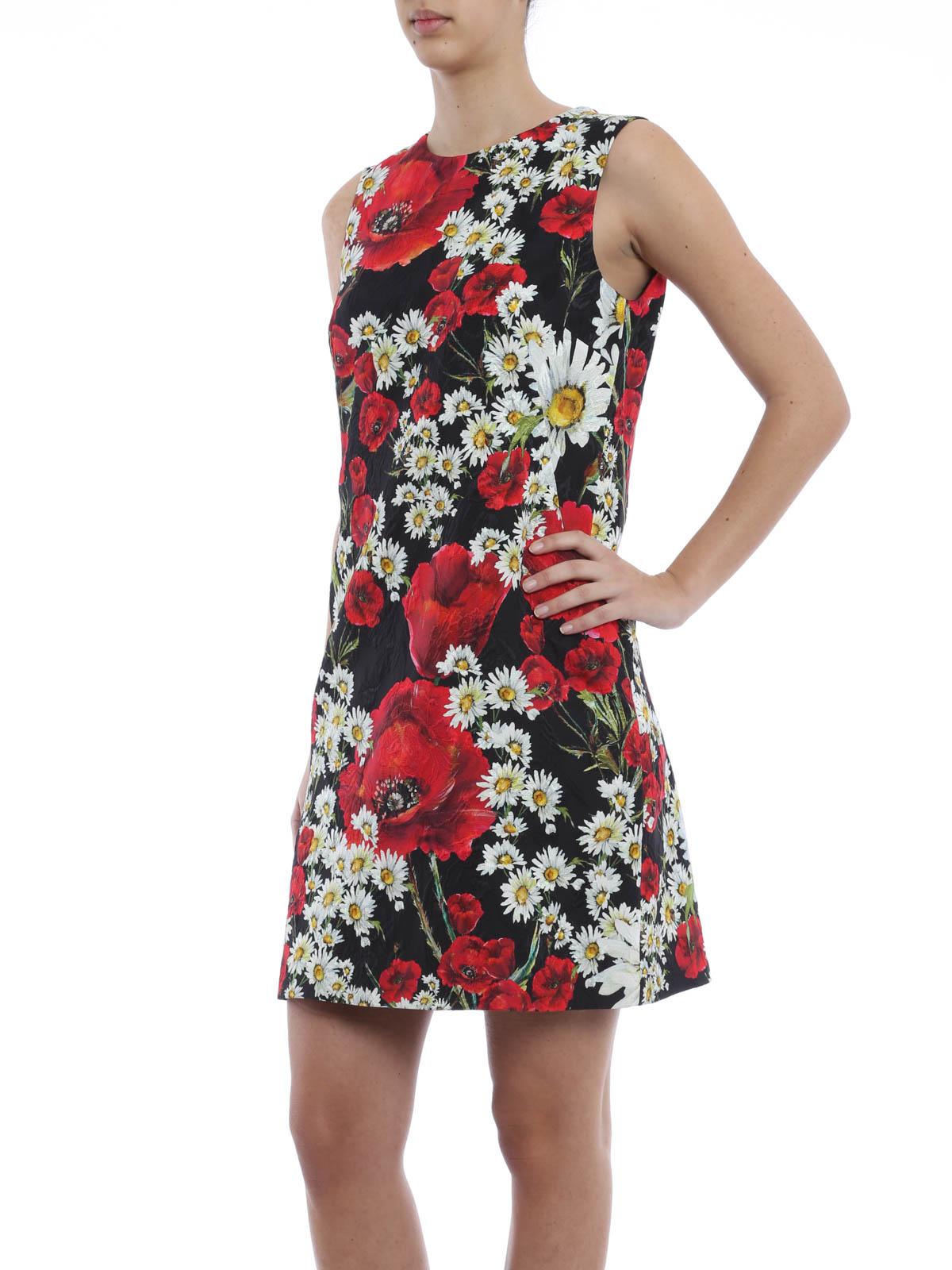 Flower print sleeveless dress by Dolce & Gabbana short dresses