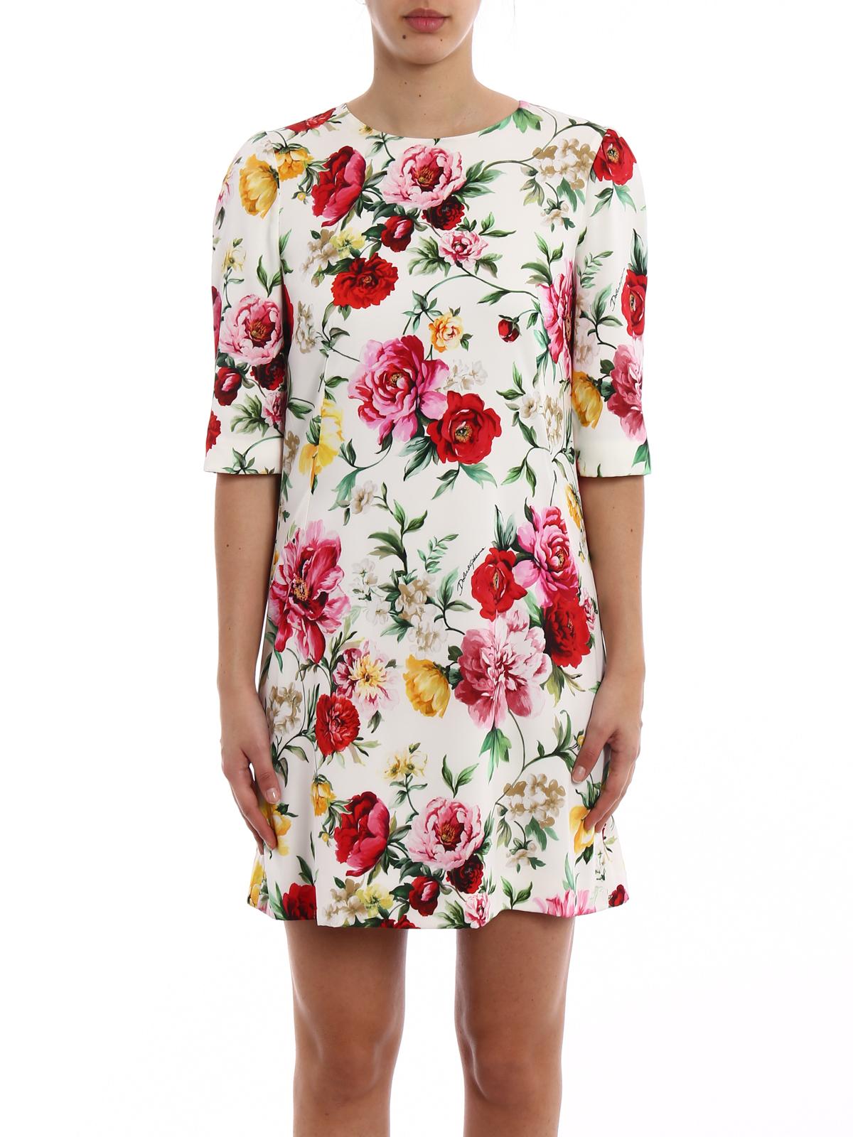 92140f932012db Dolce & Gabbana - Kurzes Kleid - Bunt - Kurze Kleider - F68I7TFSAUGHAM62