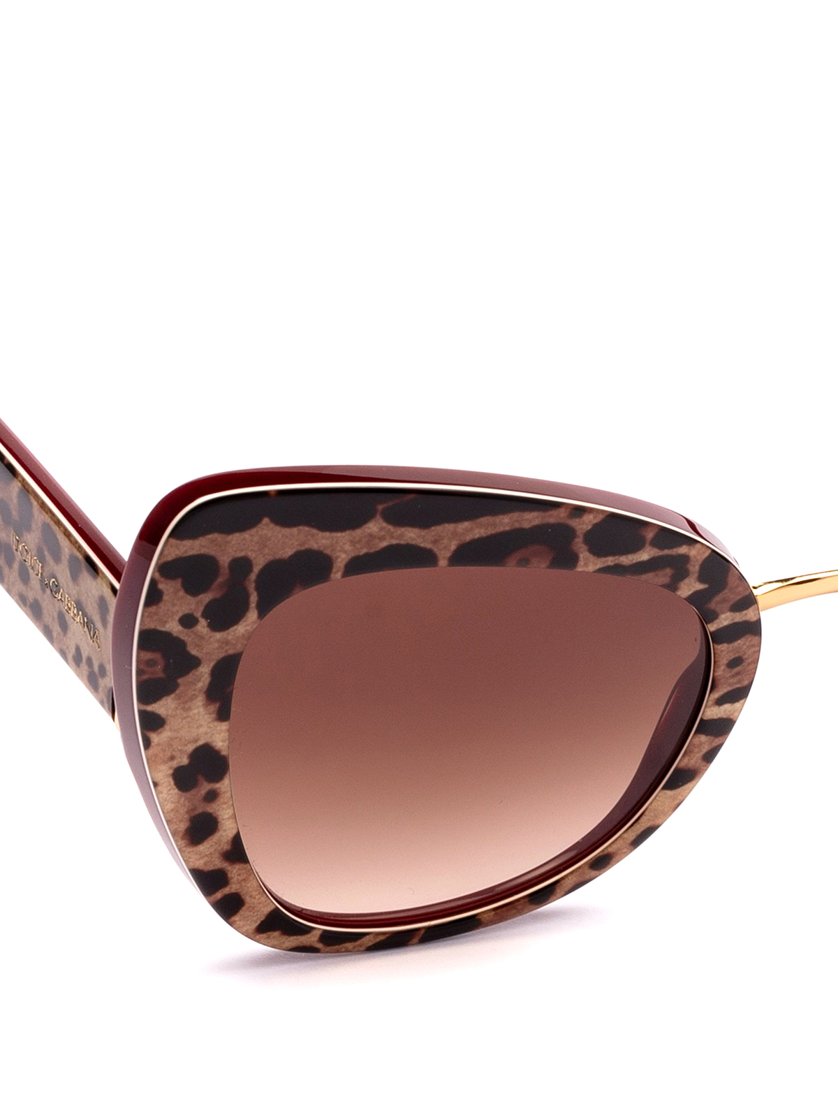 0e9d26559240 iKRIX DOLCE & GABBANA: sunglasses - Animal print acetate cat eye sunglasses