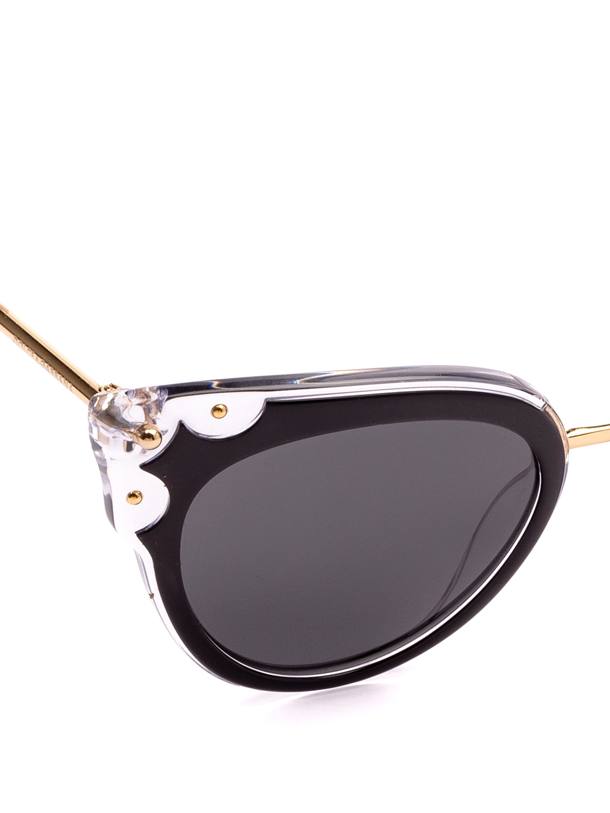 6c34bb7ad4e211 iKRIX DOLCE   GABBANA  occhiali da sole - Occhiali a occhi di gatto neri e
