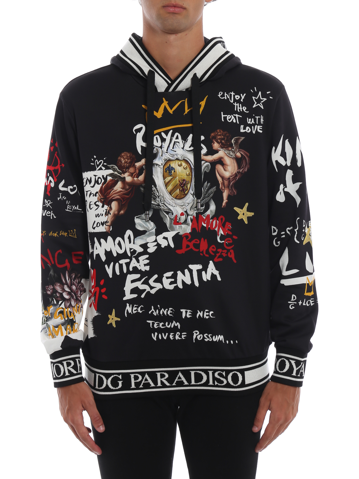 nuovo prodotto f0d28 32354 Dolce & Gabbana - Felpa con cappuccio e stampa graffiti e ...