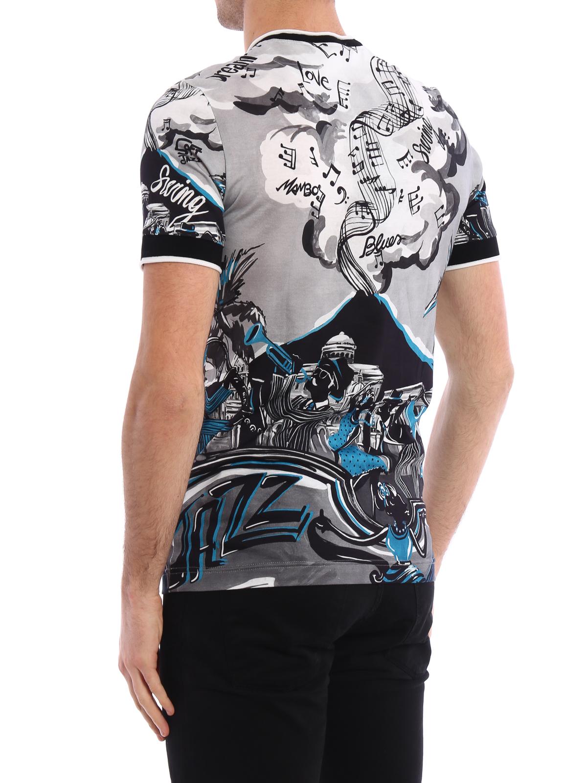 iKRIX DOLCE   GABBANA  Camisetas - Camiseta Gris Para Hombre 1b06004f0e