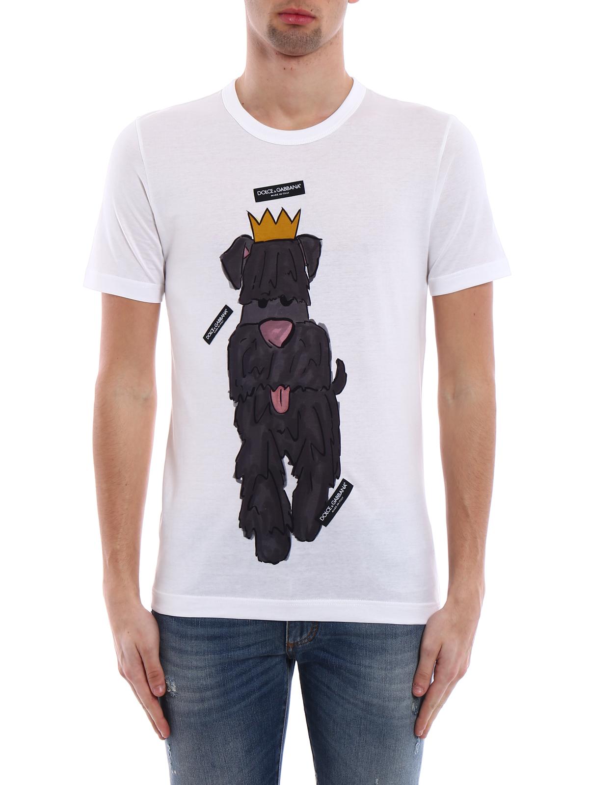 4c8605bfd31c58 Dolce   Gabbana - Dog print T-shirt - t-shirts - G8IA8T FH7DQ HWL05
