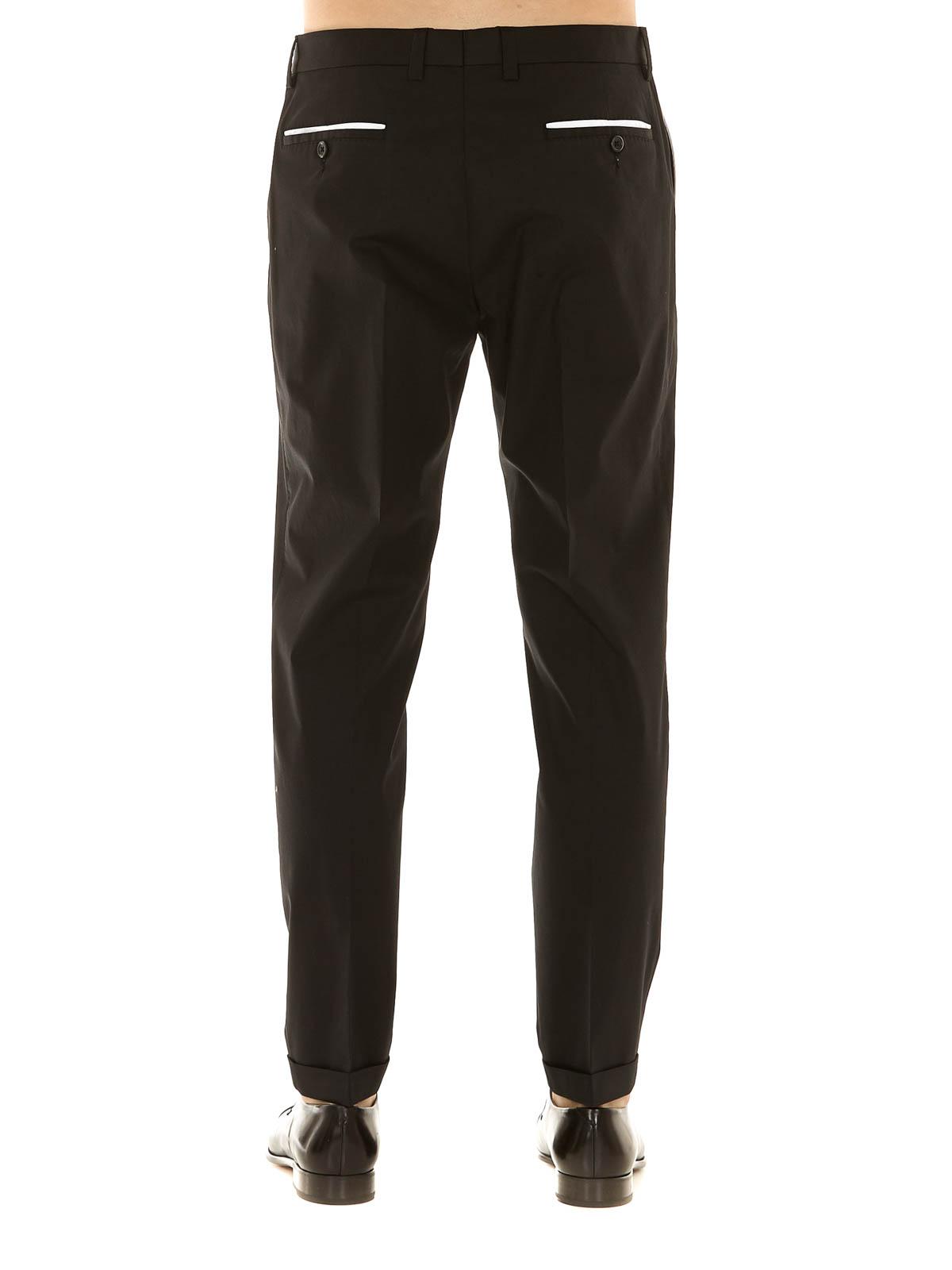 d45746f41988f iKRIX DOLCE   GABBANA  Pantalons élégants - Pantalon Ajusté Noir Pour Homme