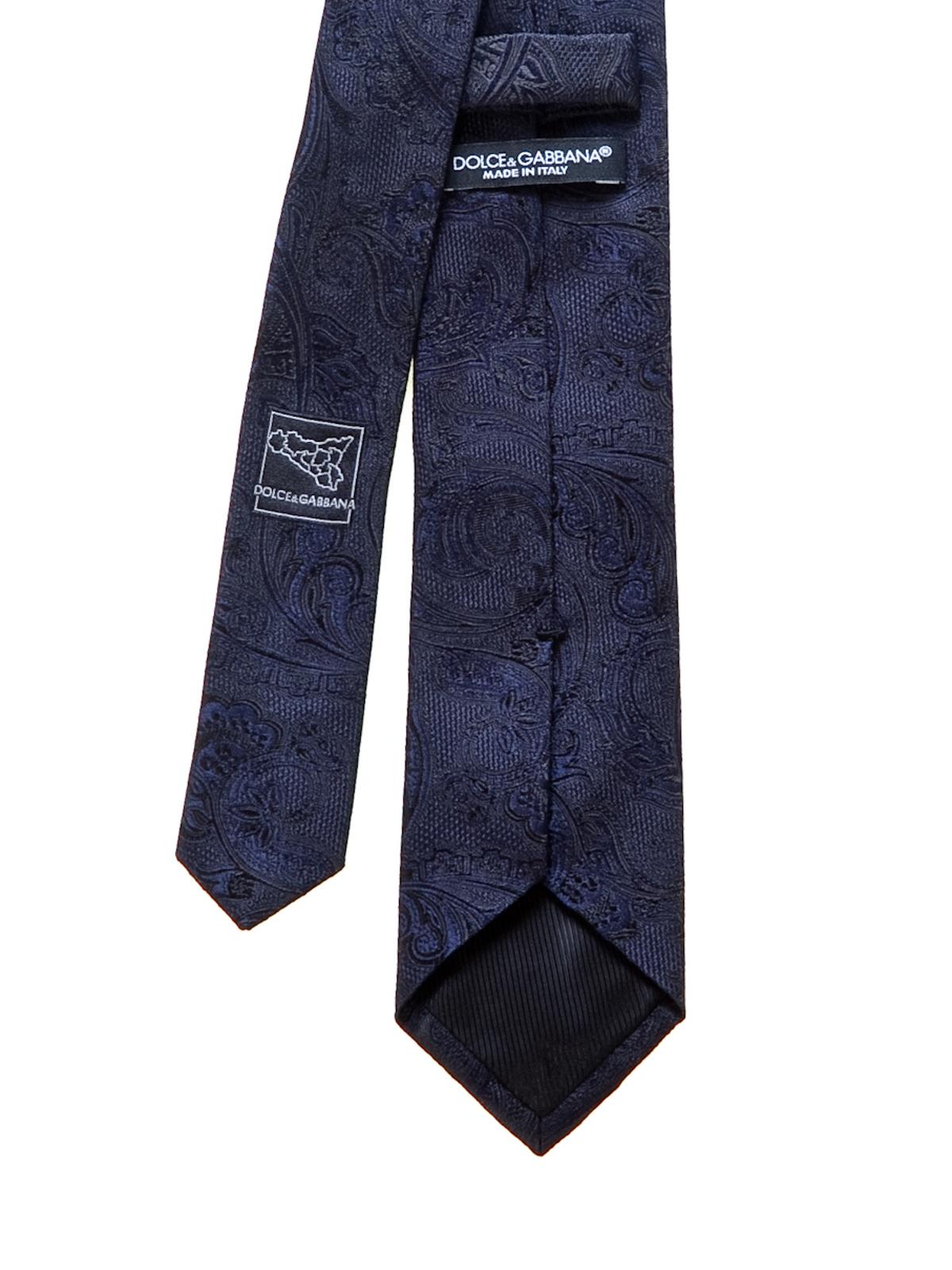 fc3c4eb5e4f5 iKRIX DOLCE & GABBANA: ties & bow ties - Paisley pattern silk tie