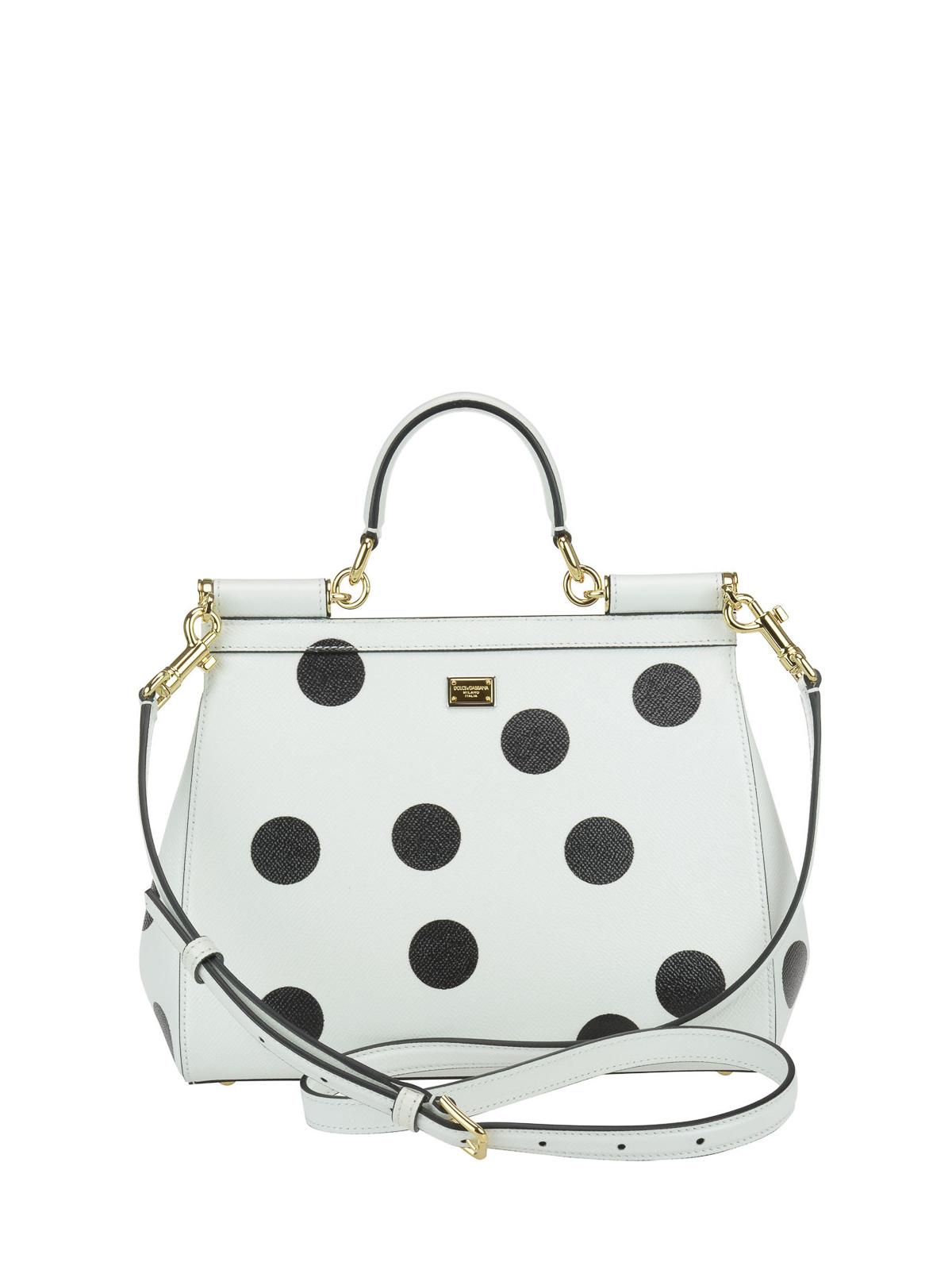 iKRIX DOLCE   GABBANA  totes bags - Floral polka dot Sicily Medium bag 0d859692c4901