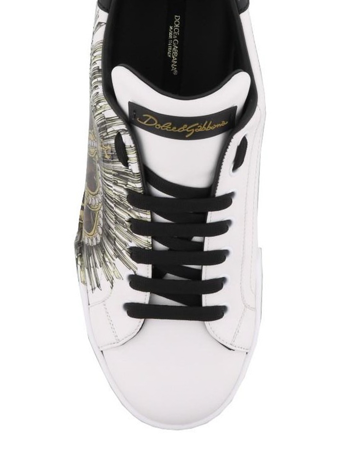 iKRIX DOLCE   GABBANA  trainers - Crown print Portofino sneakers 32837c876c6