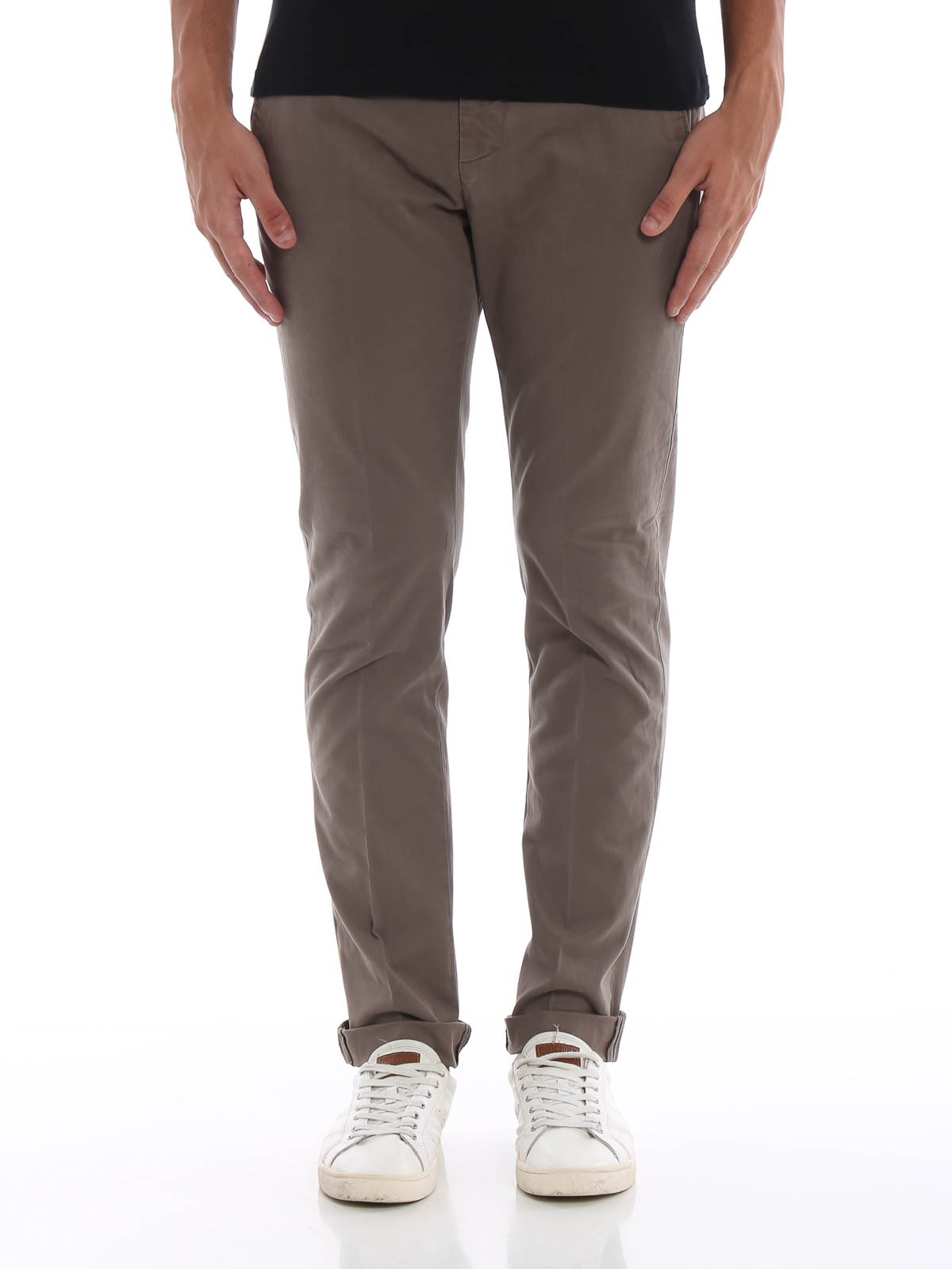 8751f1c277e32f iKRIX DONDUP: pantaloni casual - Pantaloni chino Gaubert in cotone beige  scuro