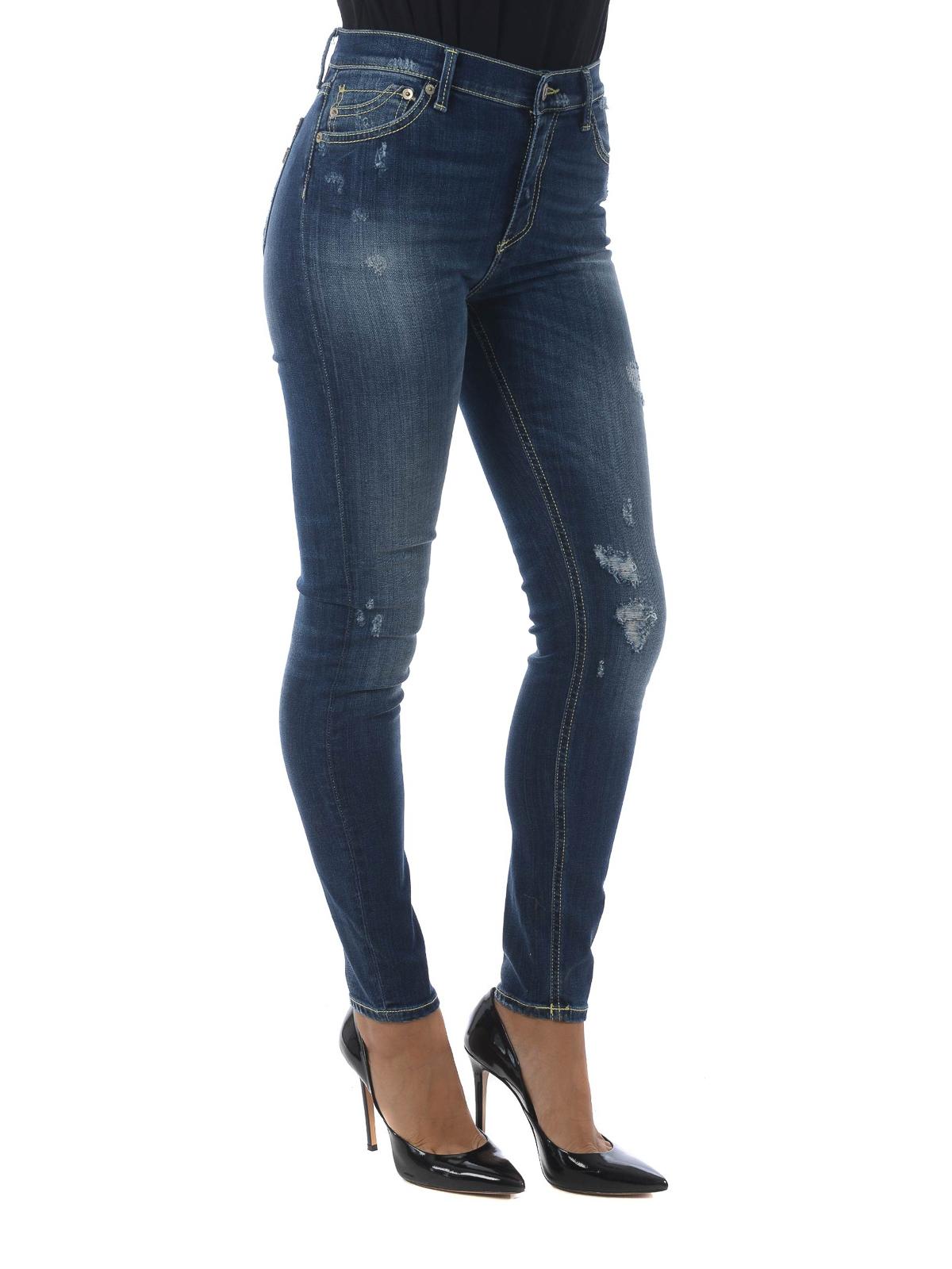 Stone Super Jeans Skinny Dondup Luriel Washed Ikrix qZwRXBn
