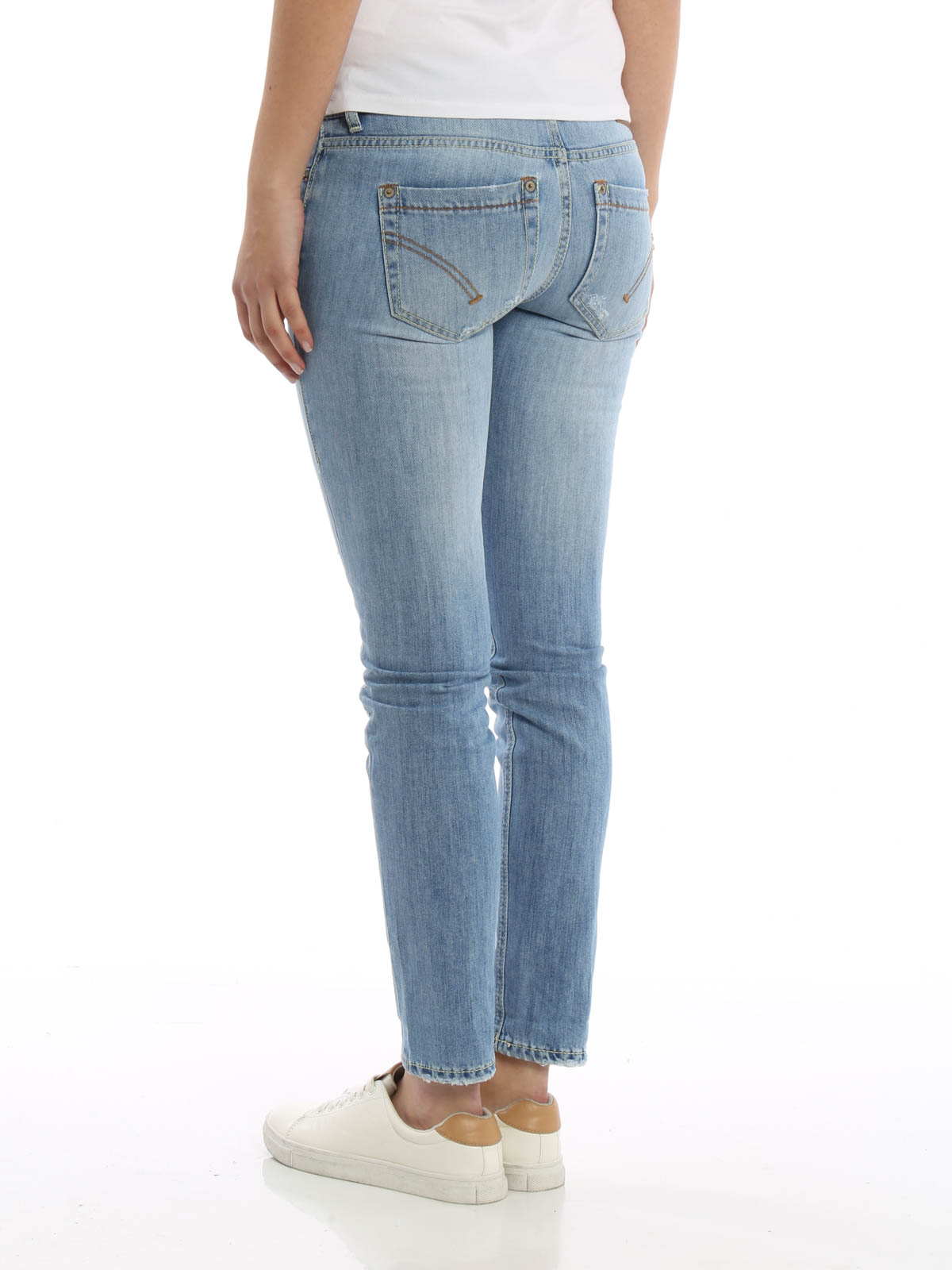 iKRIX Dondup: skinny jeans - Monroe worn out jeans