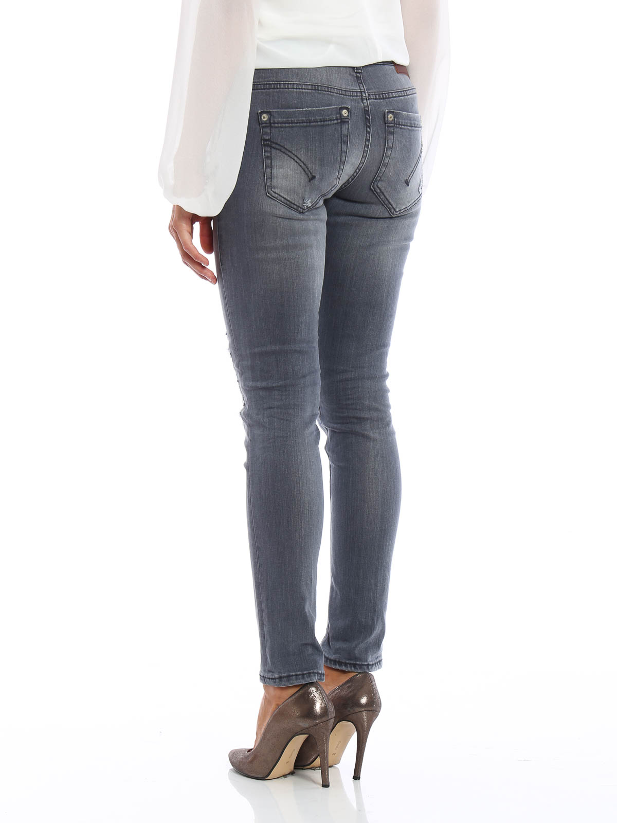 Dondup Skinny Jeans Monroe Grau Skinny Jeans P692